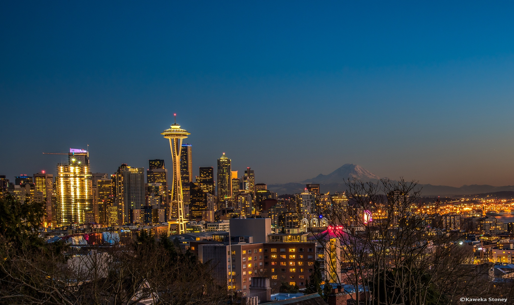 Photo in Cityscape #sunset #space needle #kerry park #seattle