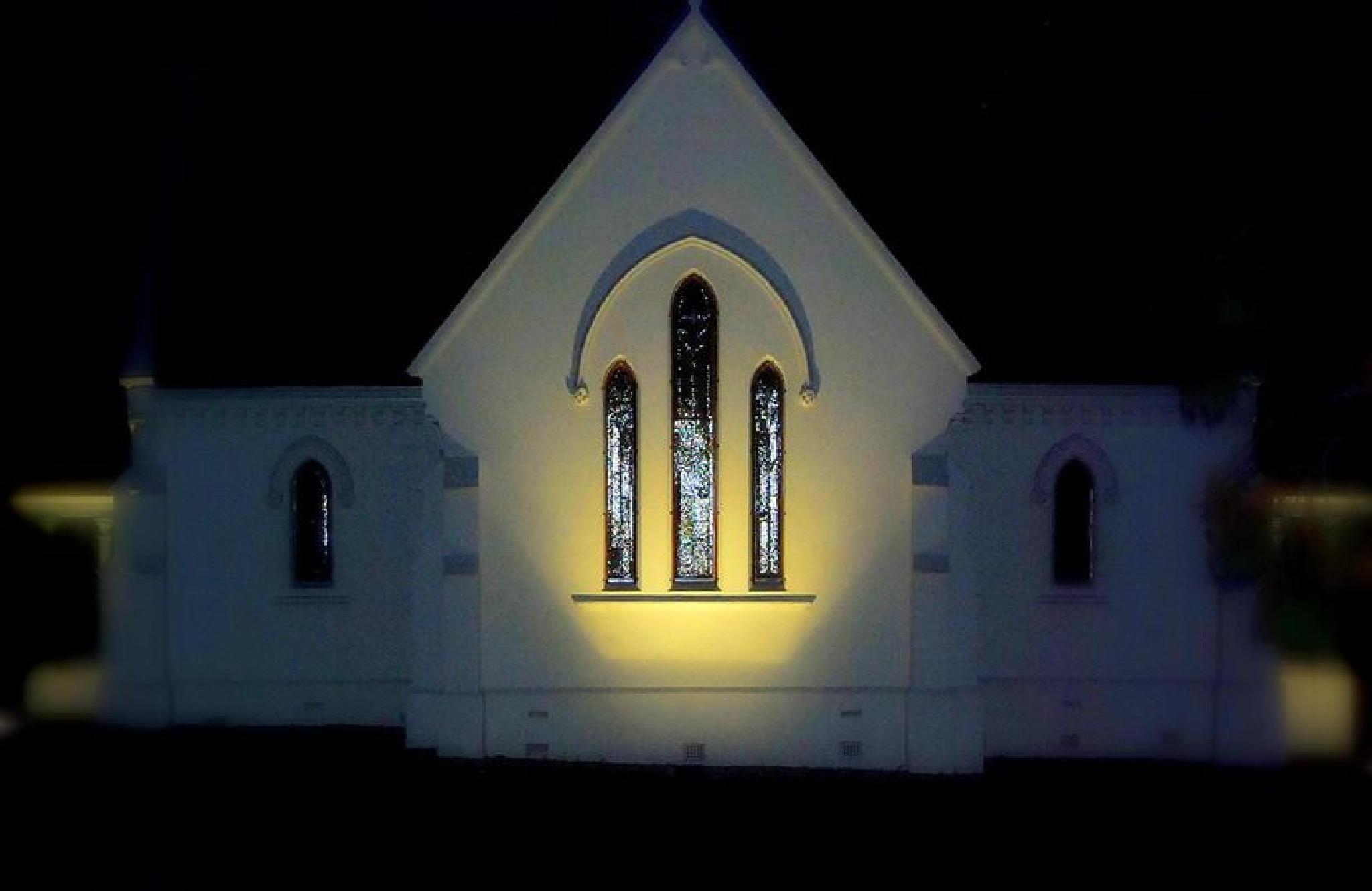 Church at night by Nerina Stephens