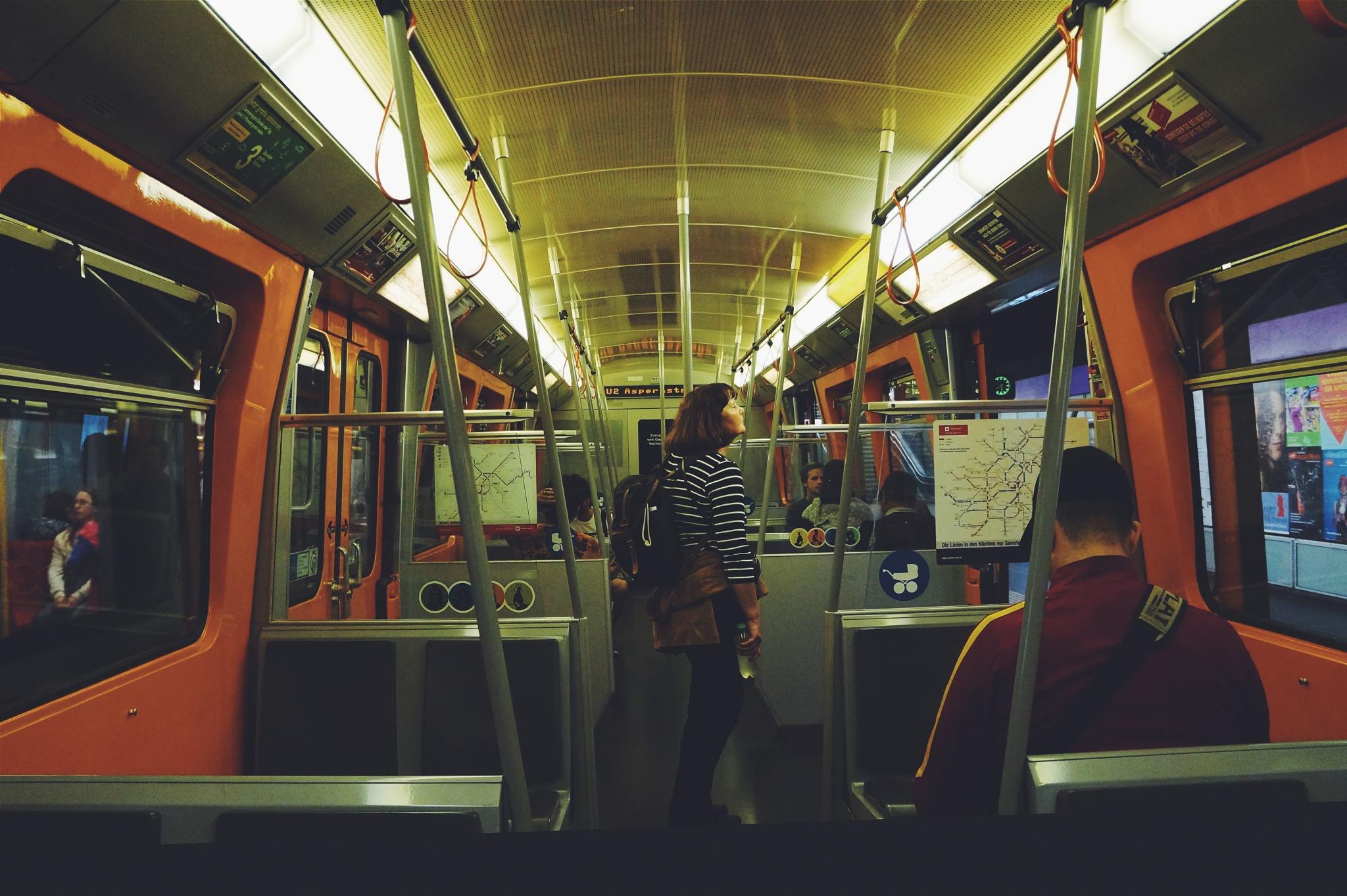 Midnight in the subway by Sabrina Alberti