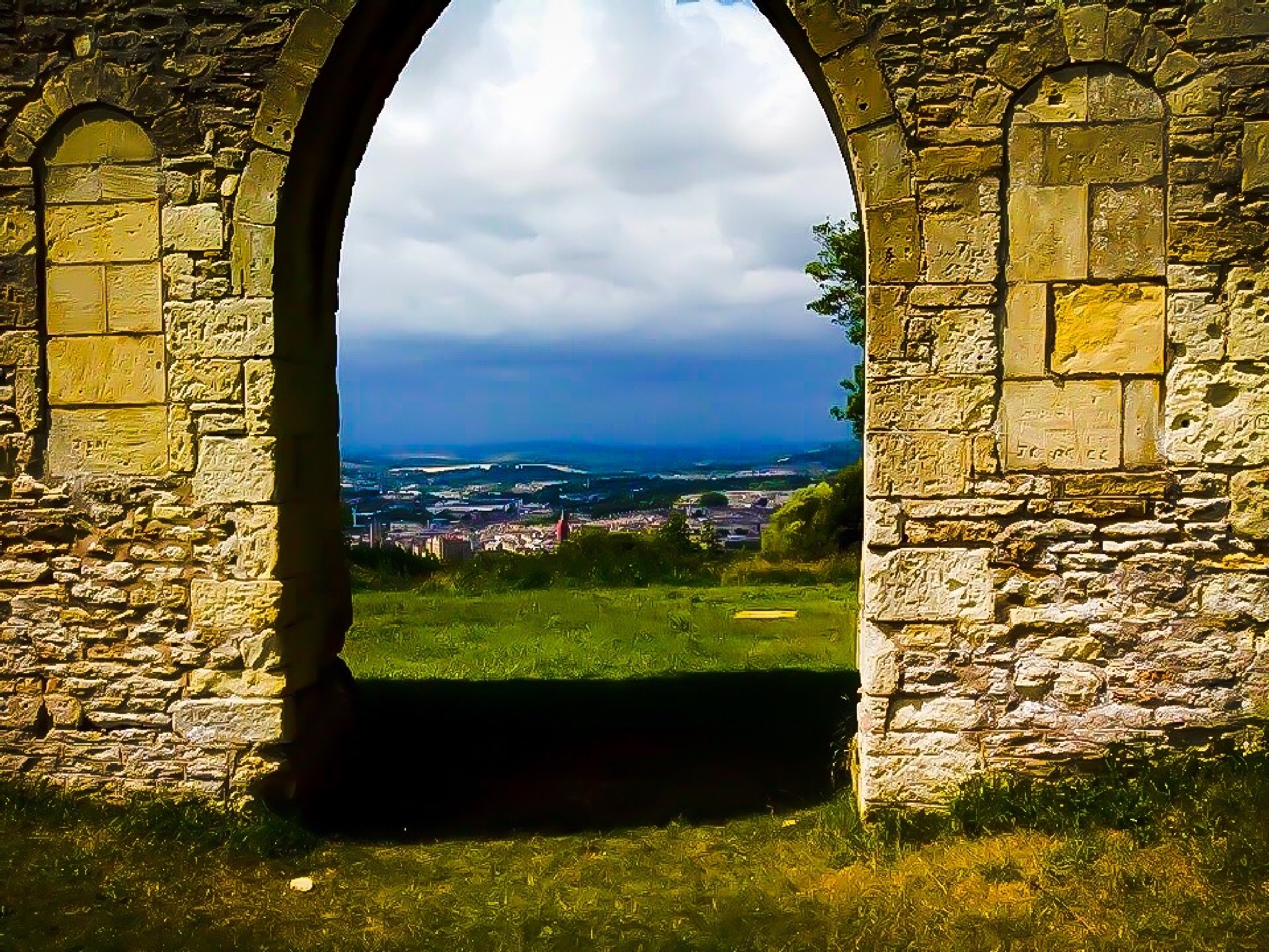 Looking through the arches  by Terry Reynolds