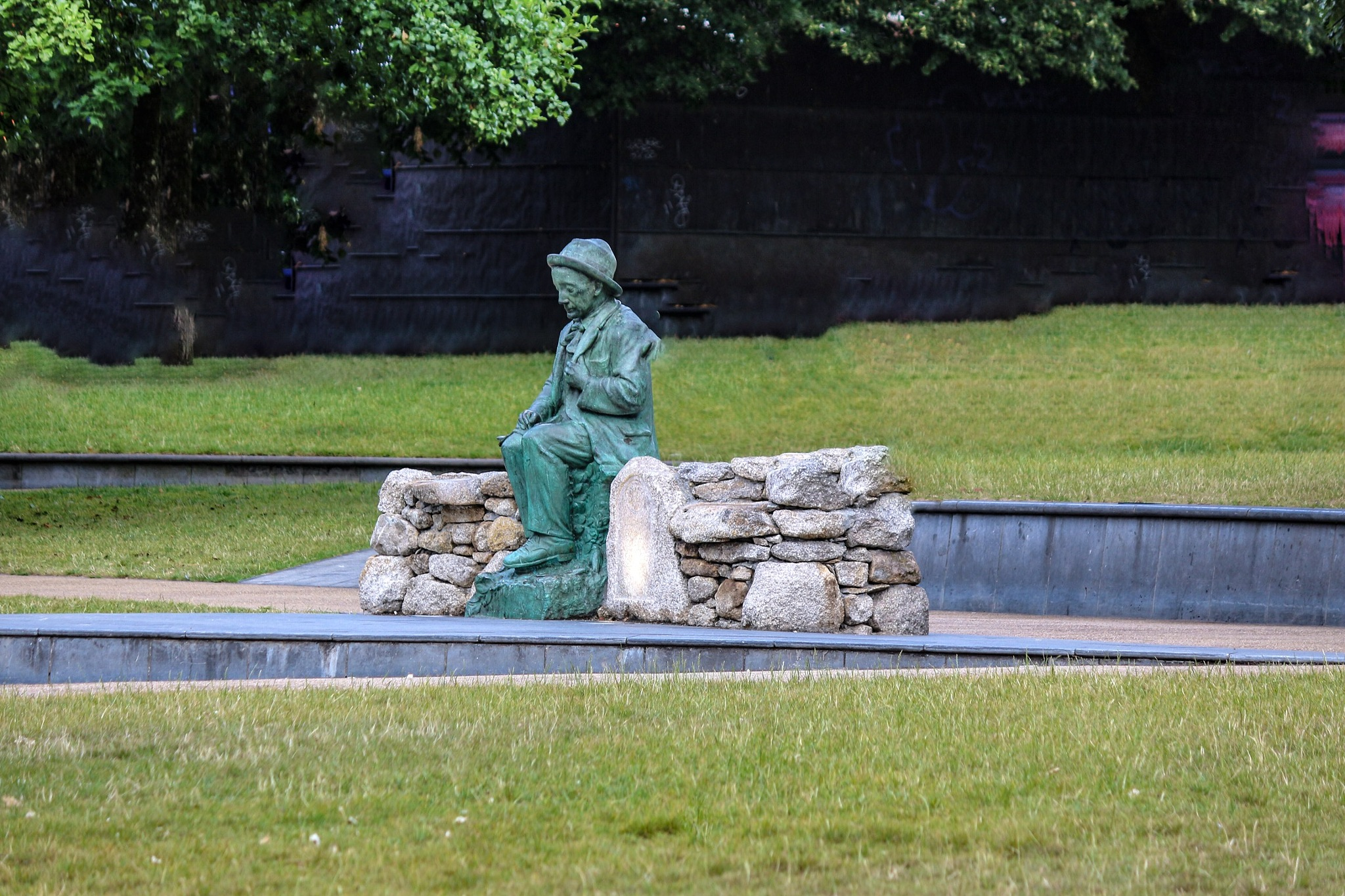 Lonly statue Galway Ireland by Terry Reynolds