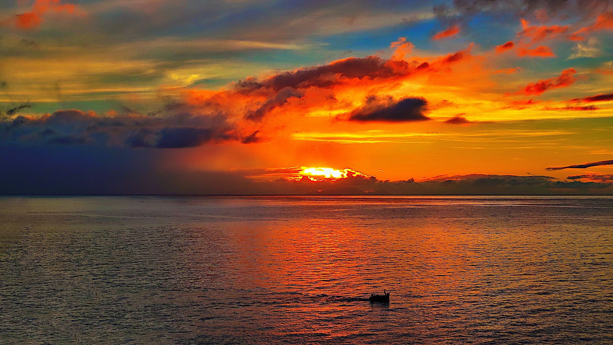 Sunset over the Atlantic  by Terry Reynolds
