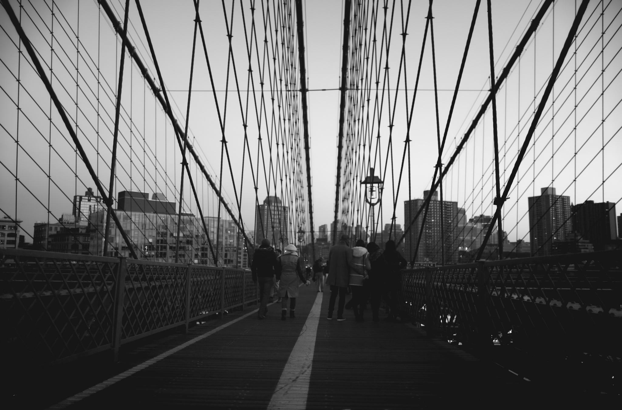 Visitors On Brooklyn Bridge by visbimmer79