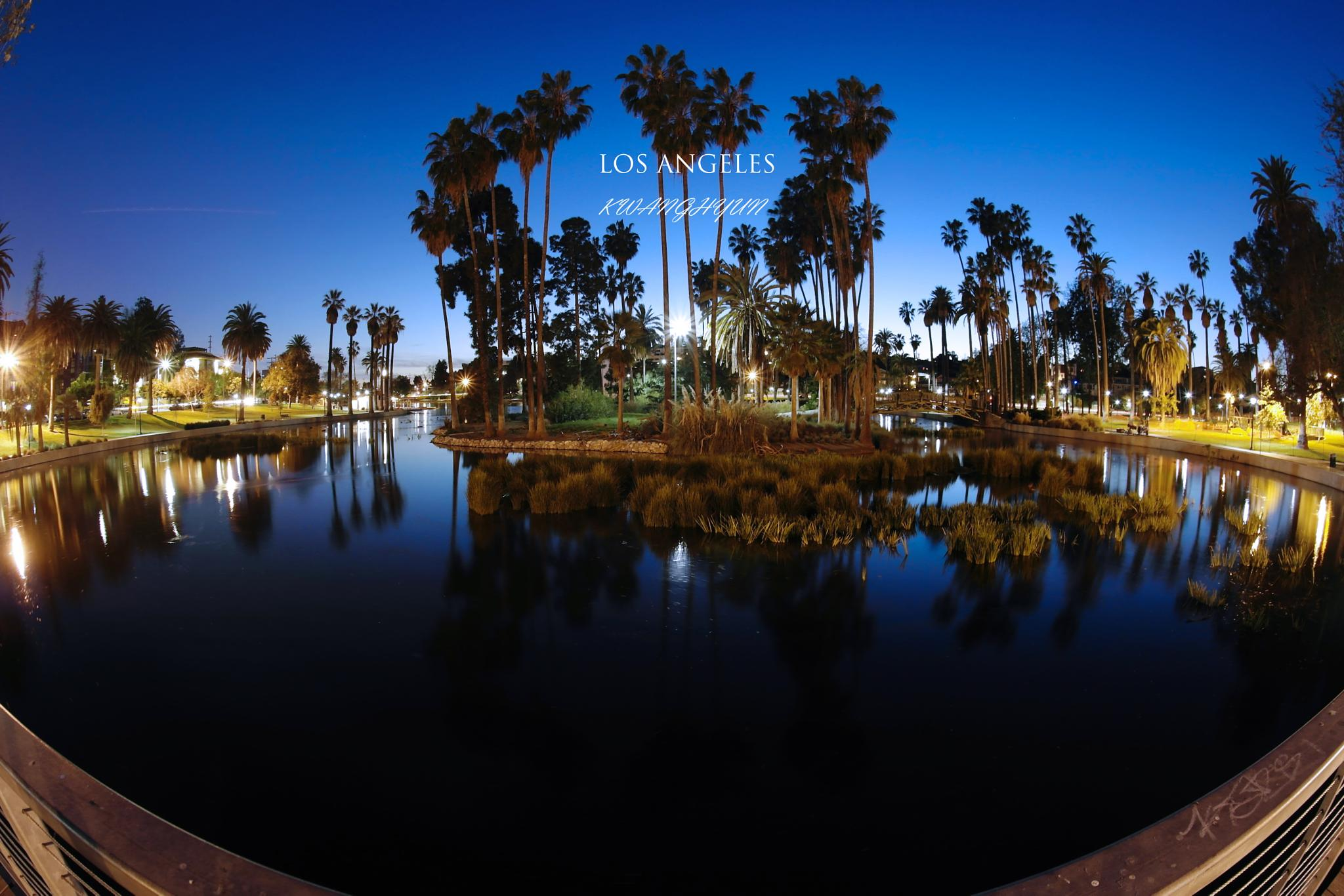Echo Park At Night by visbimmer79
