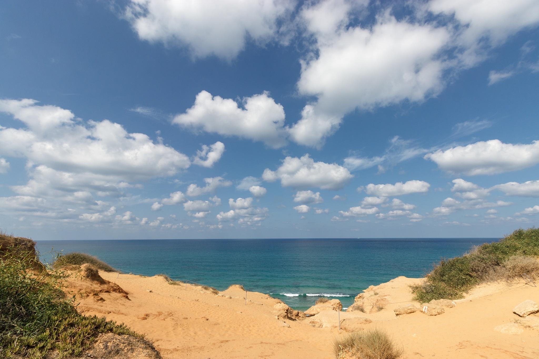 Sea, Clouds, Israel by Anatoly Vinokurov