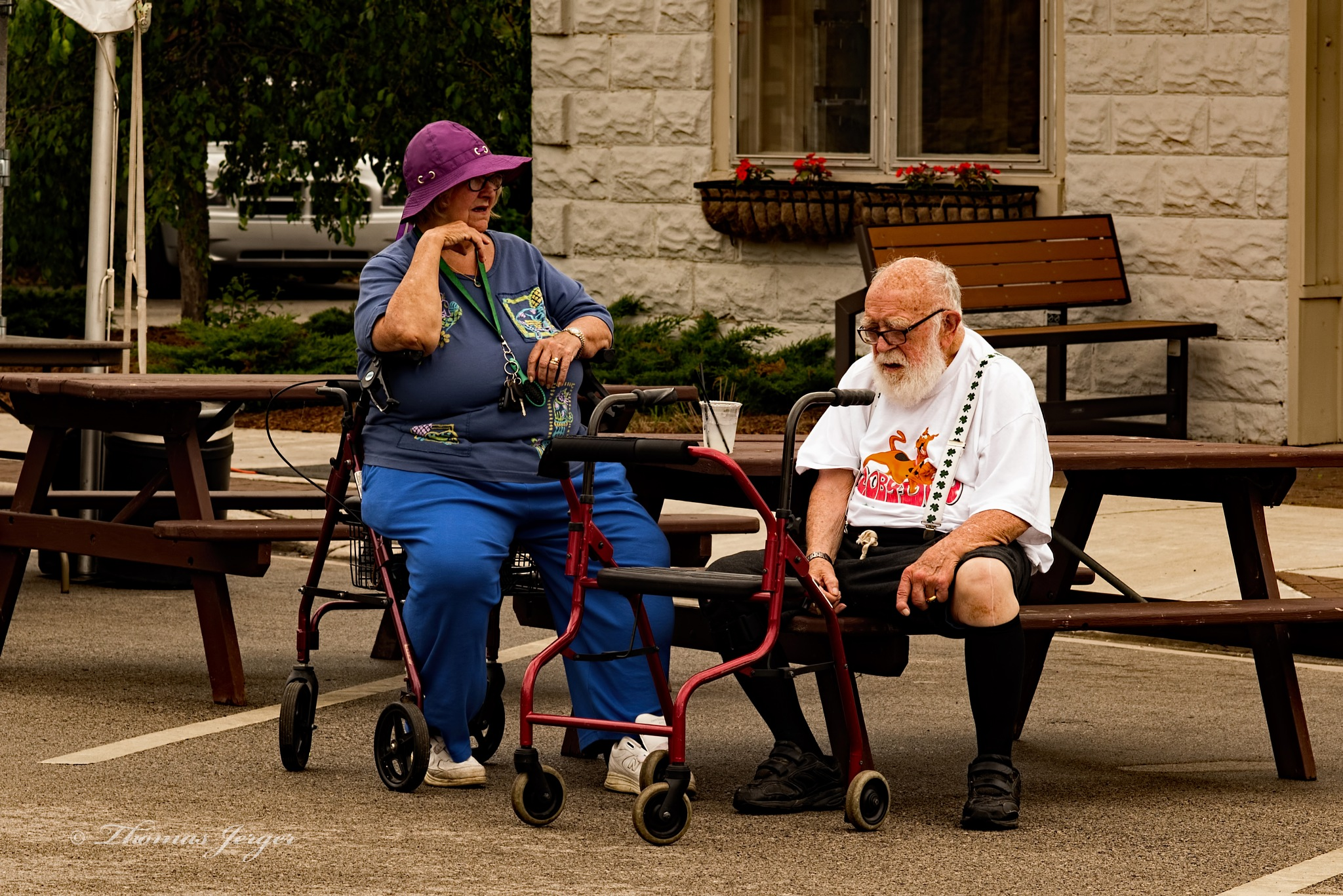 Older Couple at the Greet and Meet by ThomasJerger