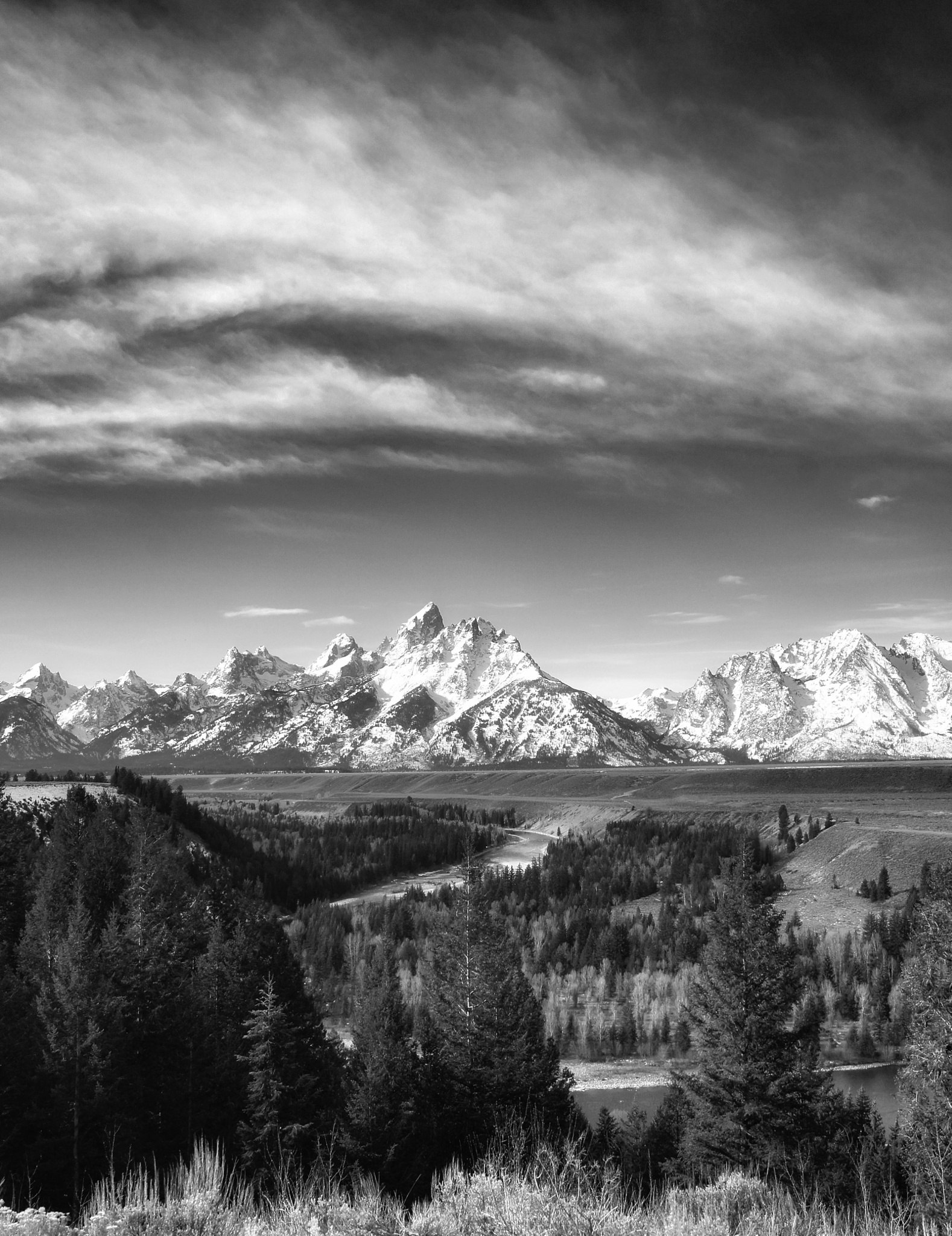 The Tetons (portrait) by Bary_B