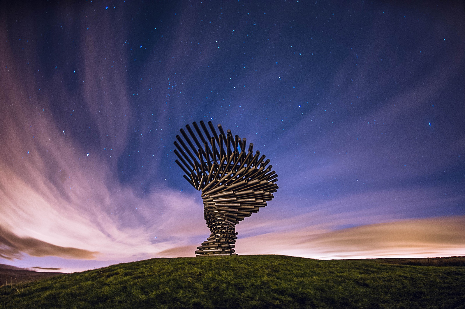 Photo in Astrophotography #panopticon #stars #lancashire #burnley #sarry sky #clouds #landscape #night