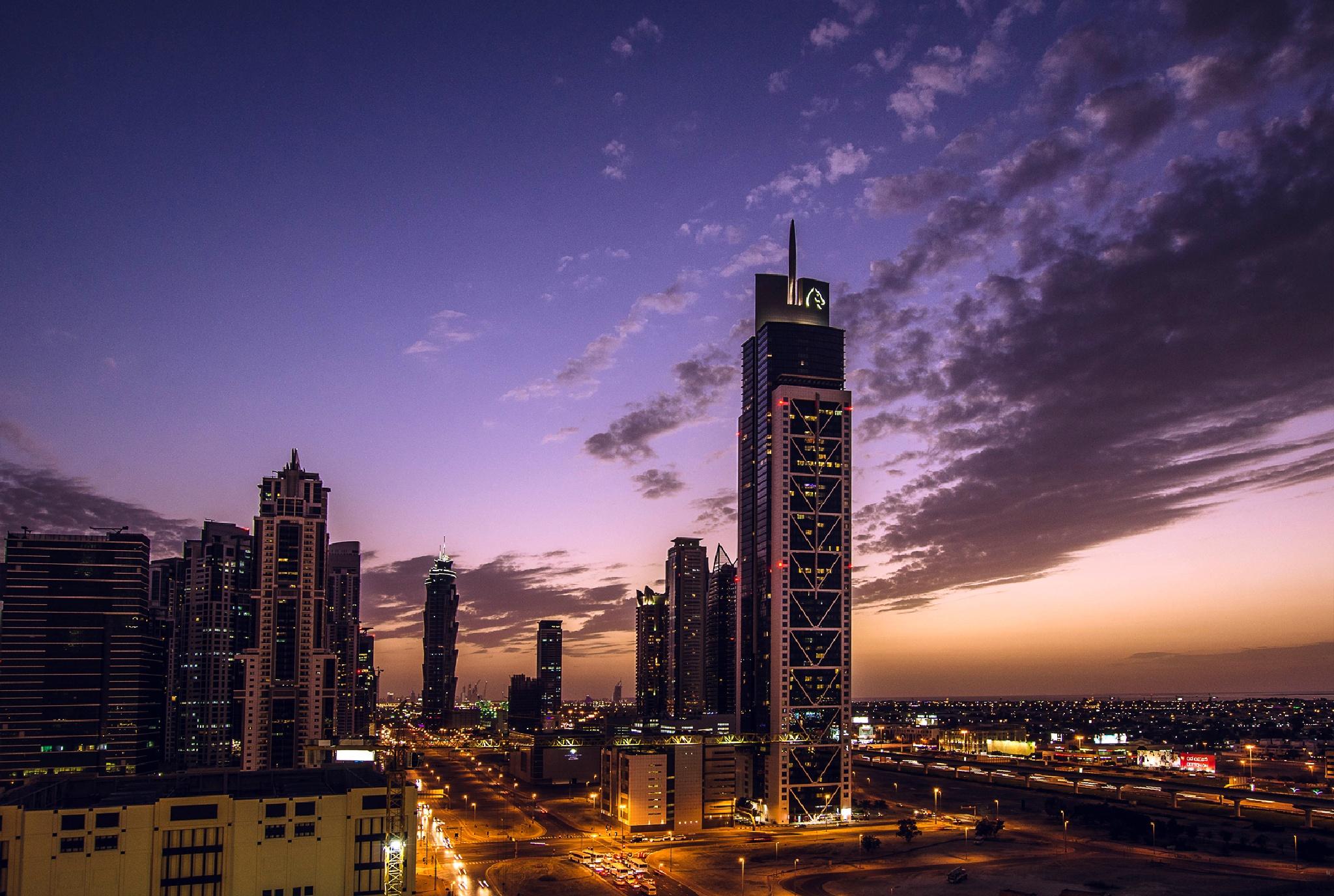 Evening sky in Downtown Dubai by MrBpix