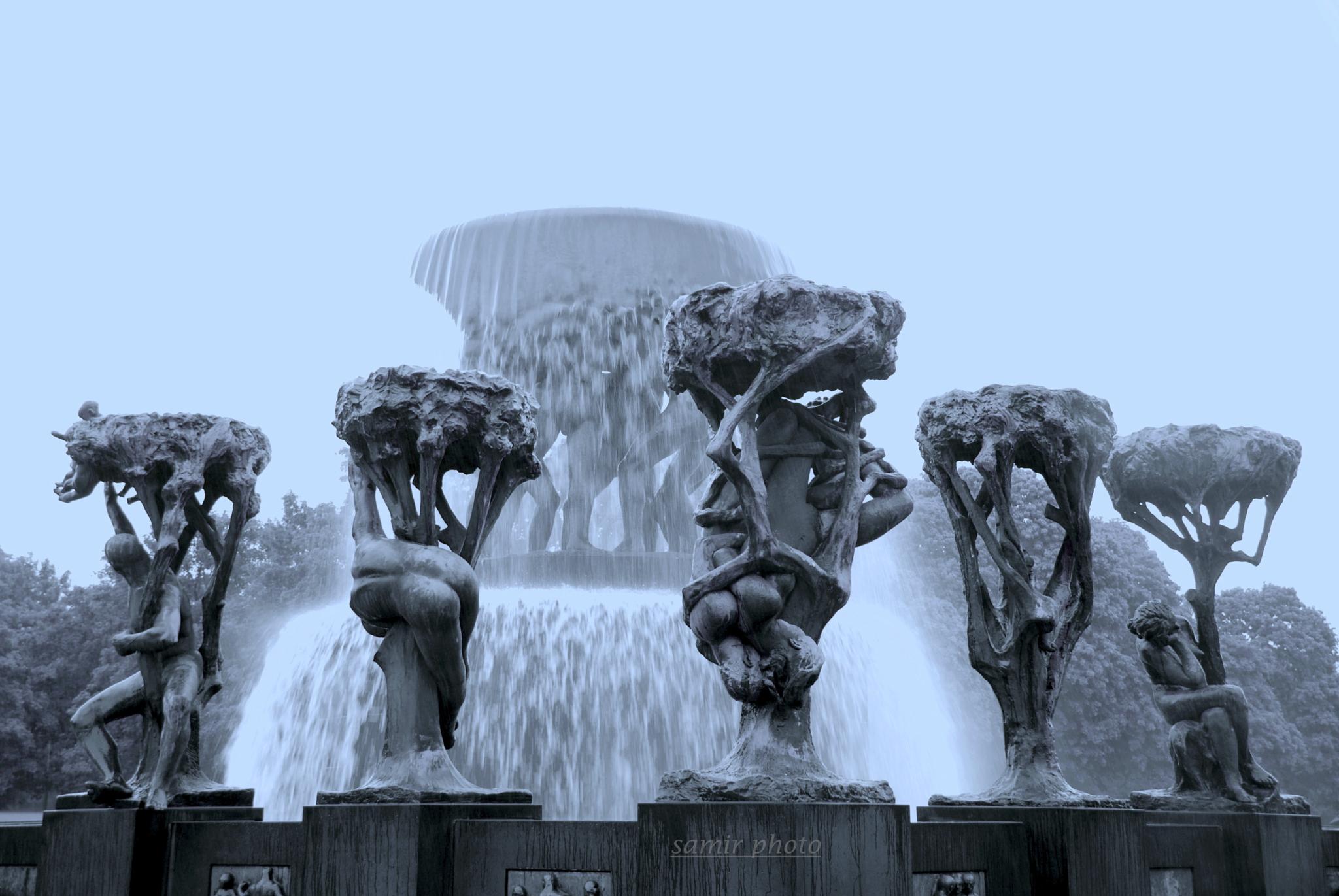 gustav vigeland sculpture  by samirsarkar