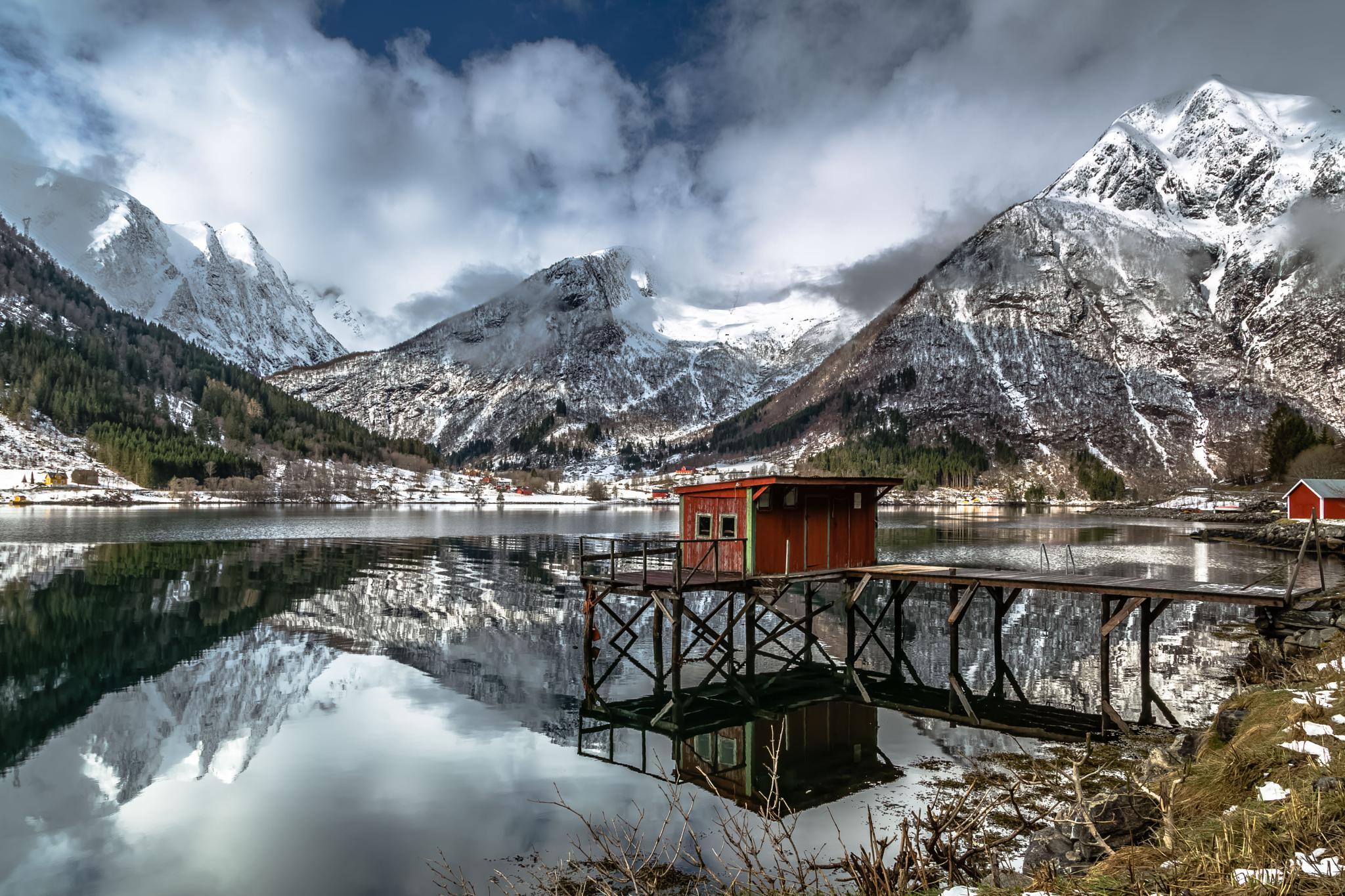 Morning Reflection, Balestrand, Norway by EuropeTrotter