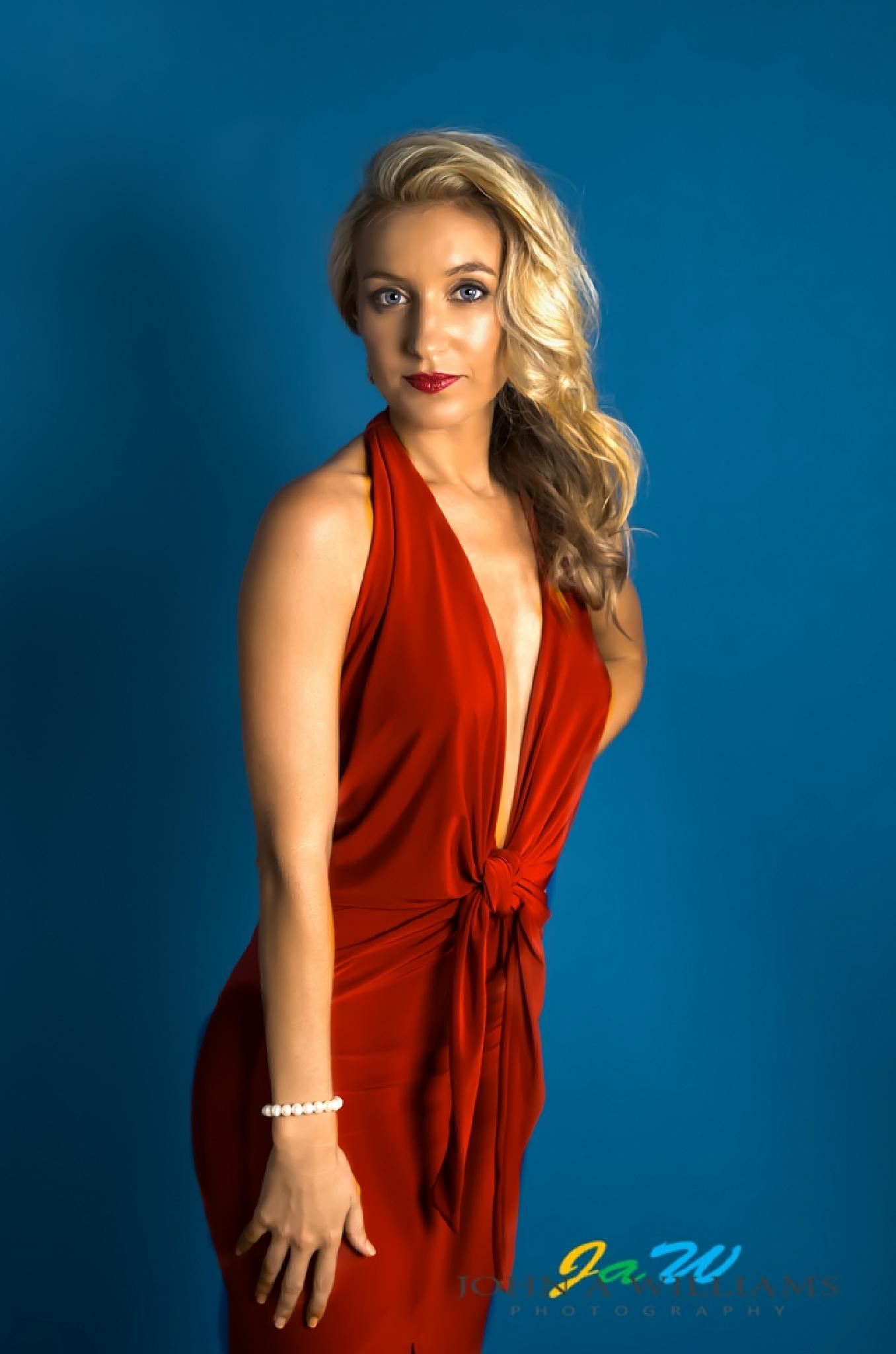 Woman in Red by J A Williams Photography