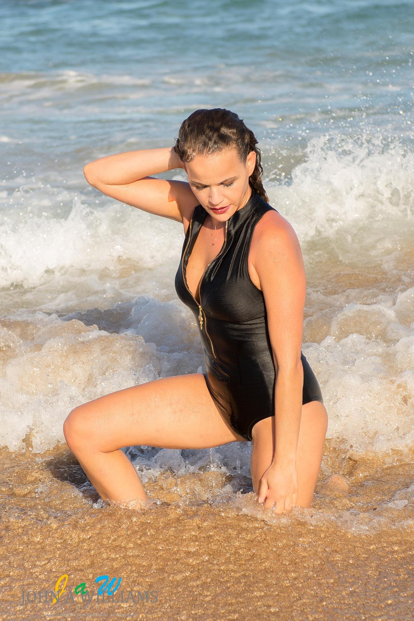 Photo in People #beach #sexy #beautiful #waves #sand #summer #sunshine #model #stunning #bikini #wet