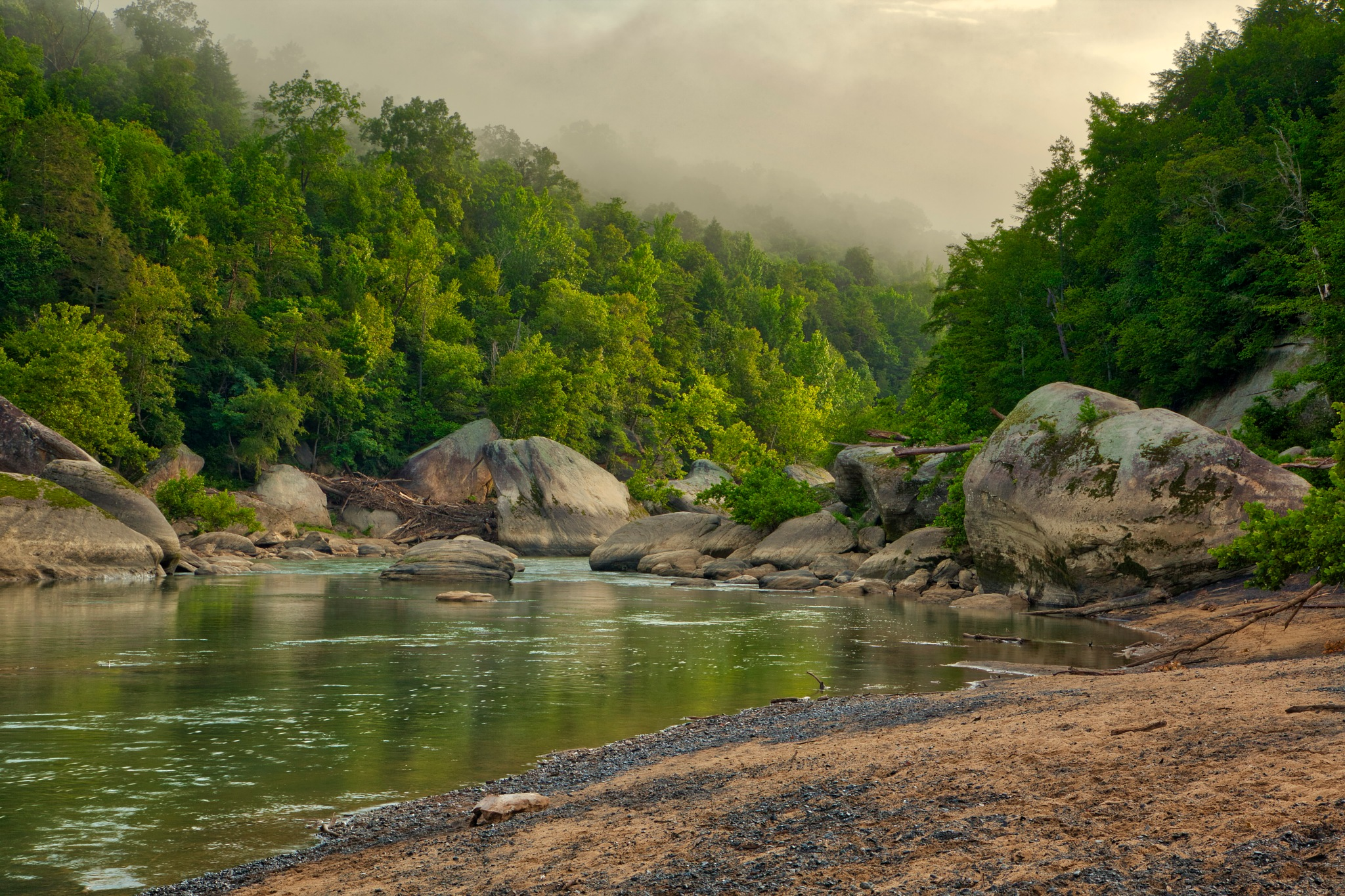 Cumberland River Early in the Morning by Kevin Kludy