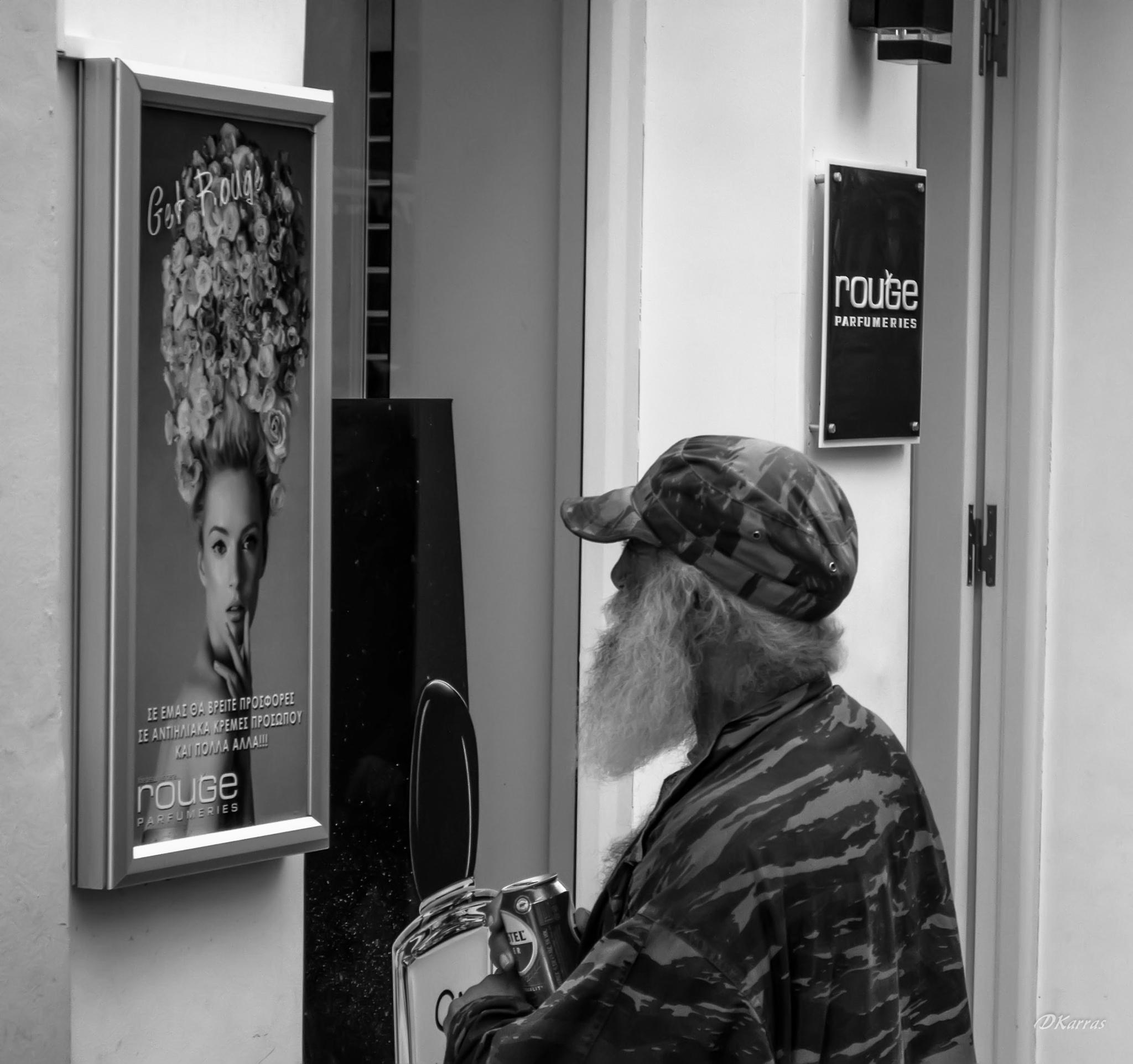 Old man looking... by Dimitris Karras