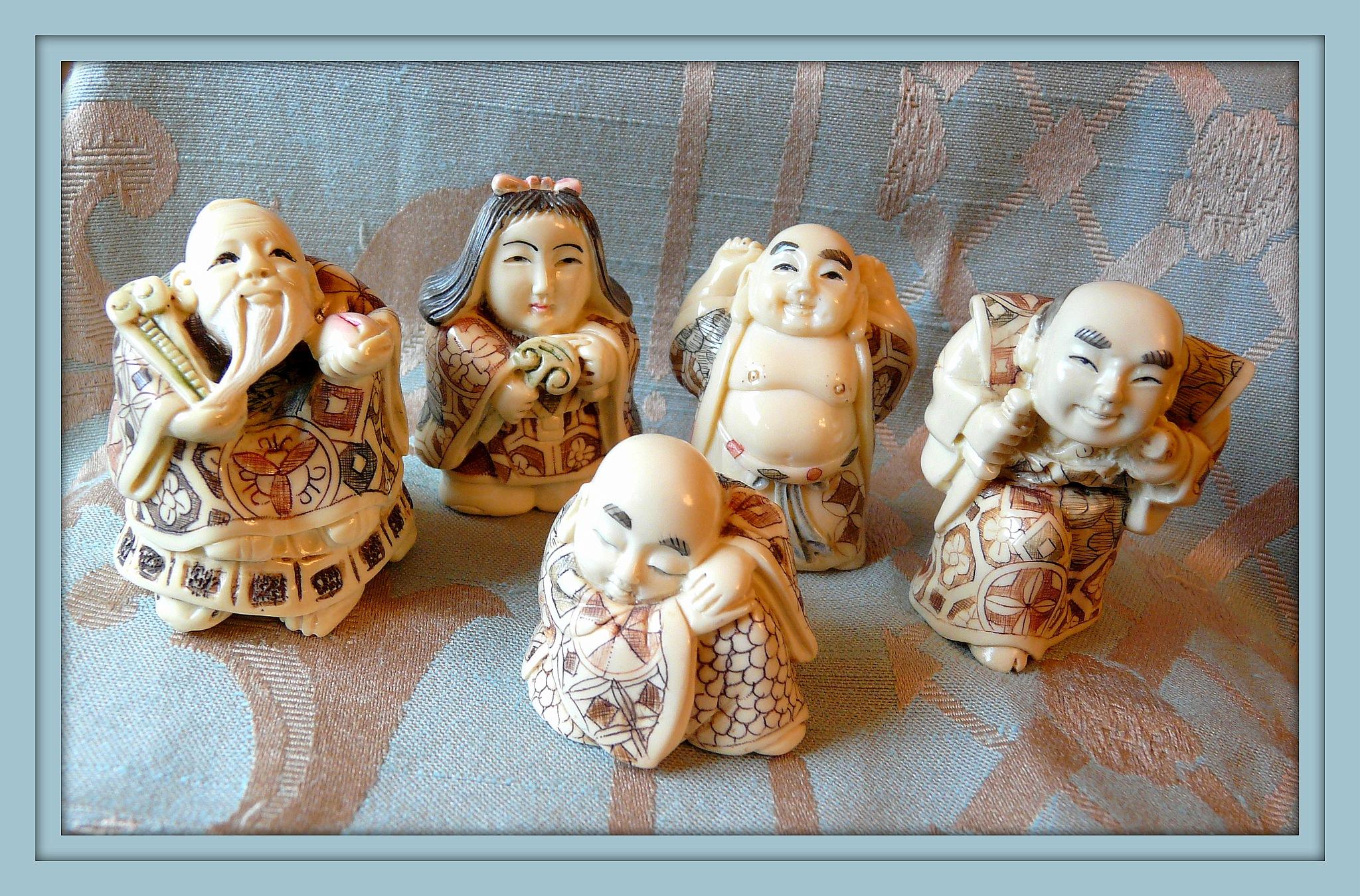 Netsuke Family by marlene burt