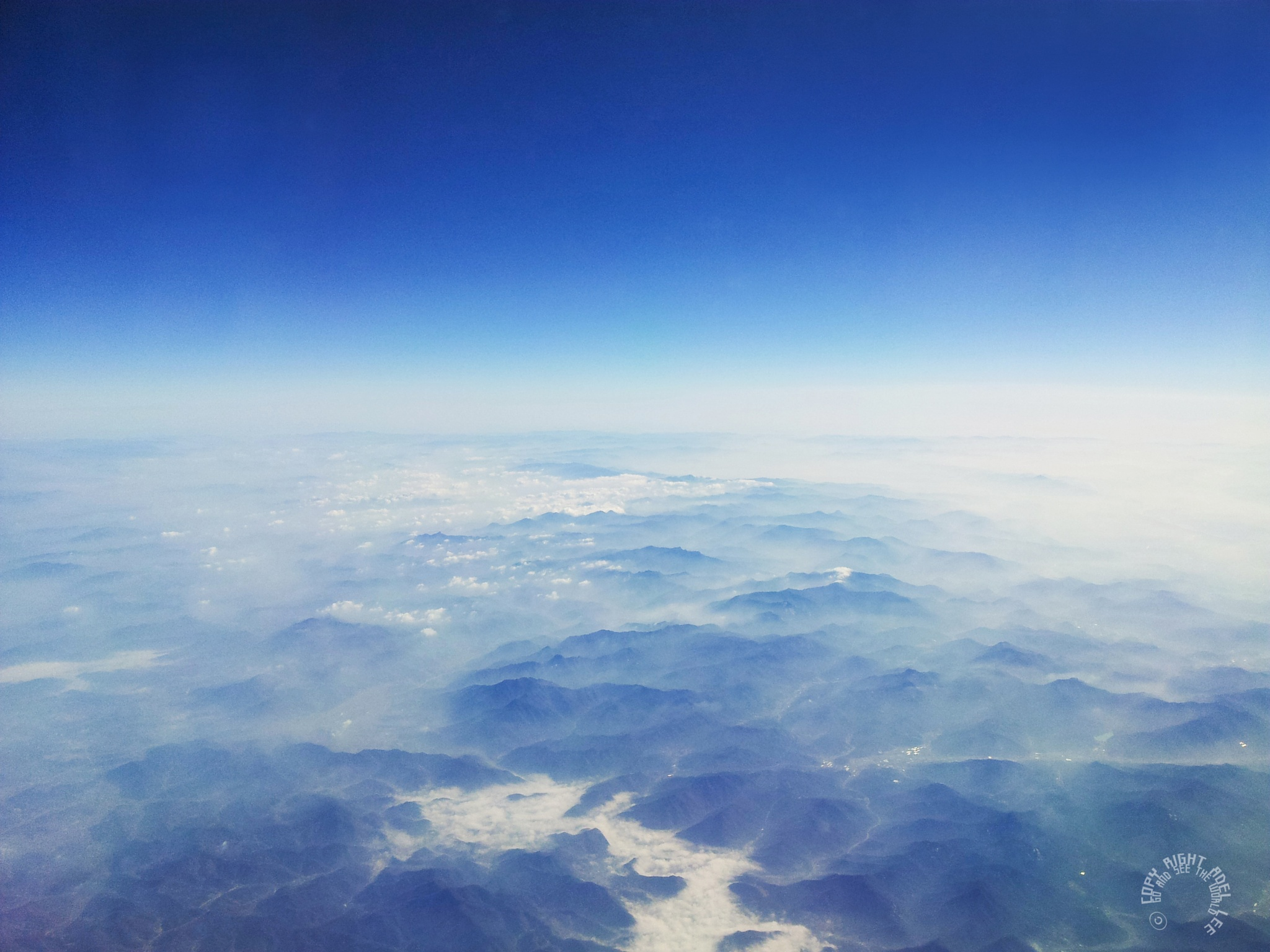 the beautiful mountain ranges of Korea. by Adel Lee