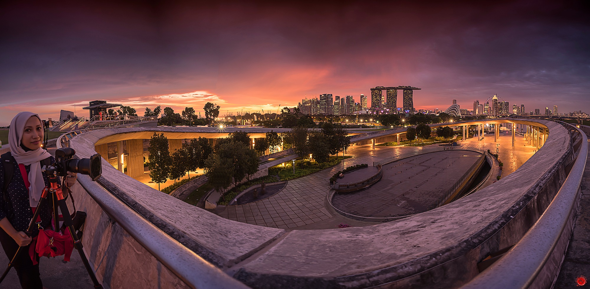 Marina Barrage by Fajri Miwa