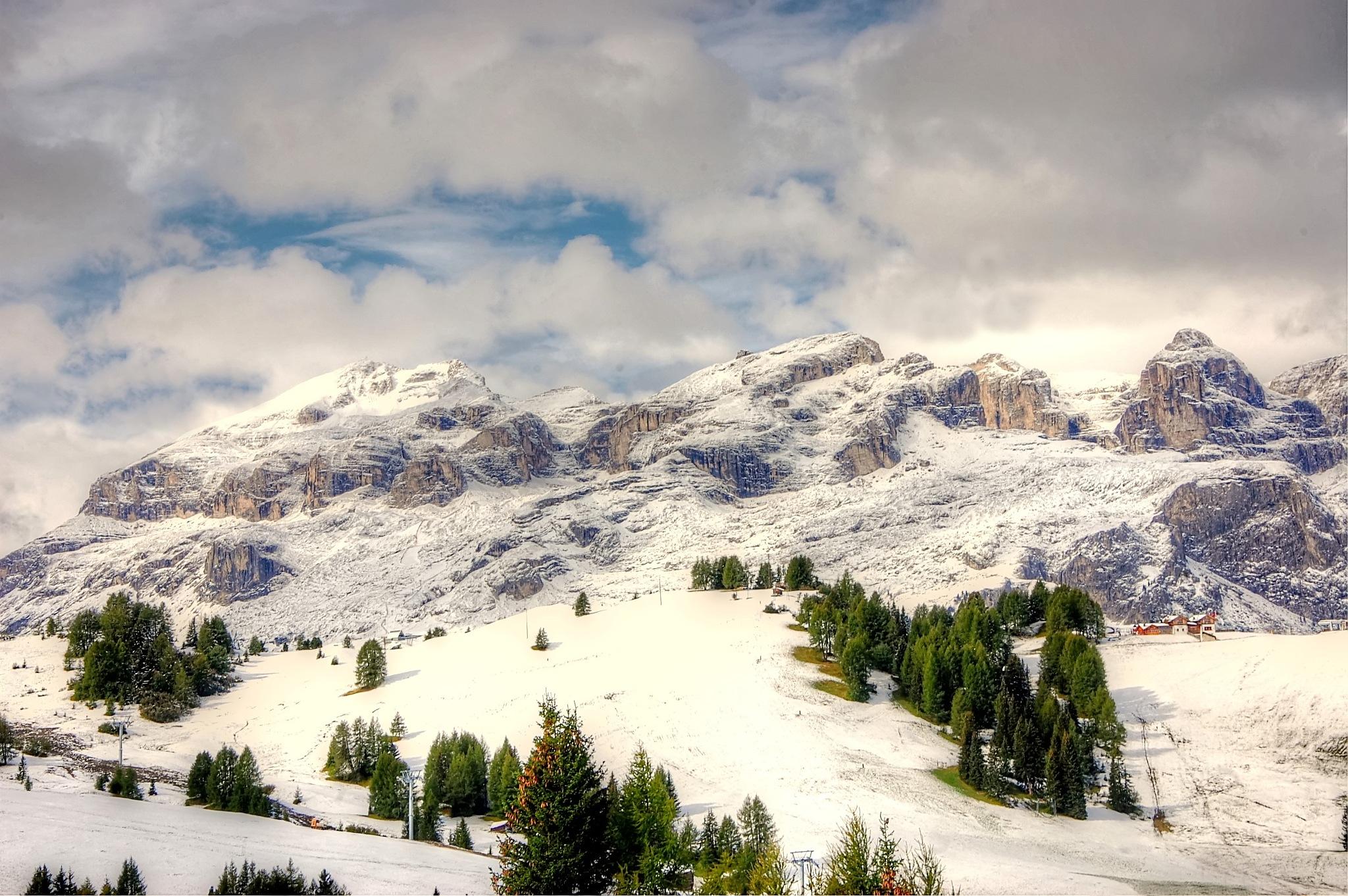 heute schnee auf der pralongia by kordi