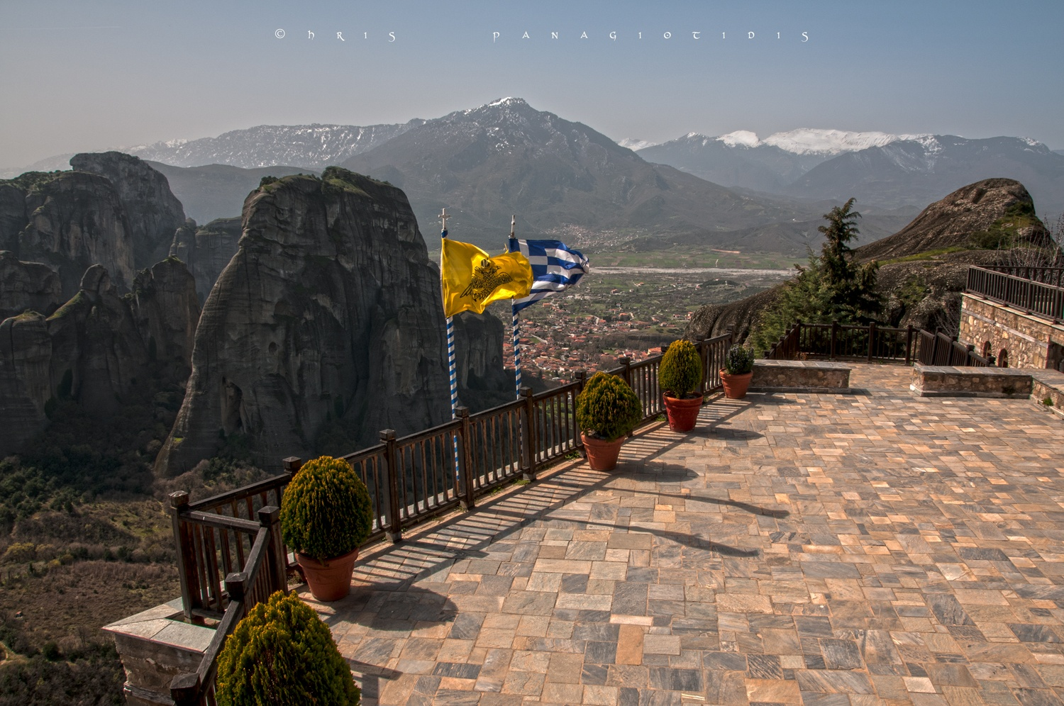 Meteora...view from a monastery terrace by Chris Panagiotidis