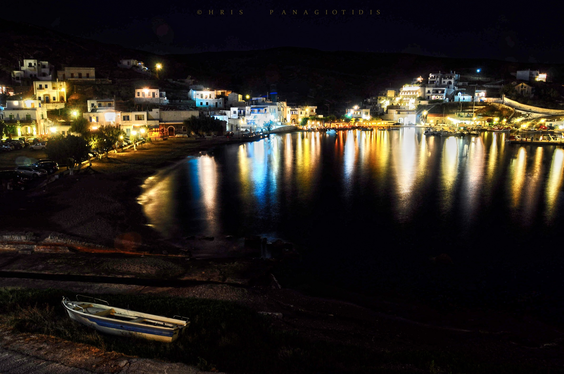 Photo in Sea and Sand #greece #cyclades #kythnos #night #sea