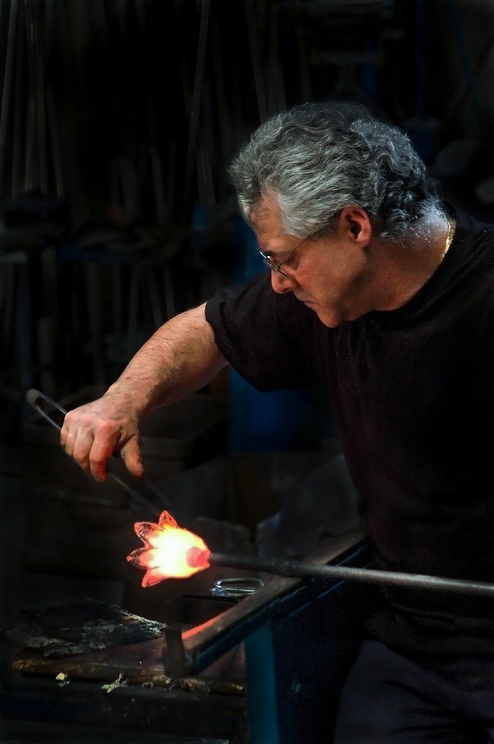 Glass maker, Poble espanyol, Barcelona by Chris Panagiotidis