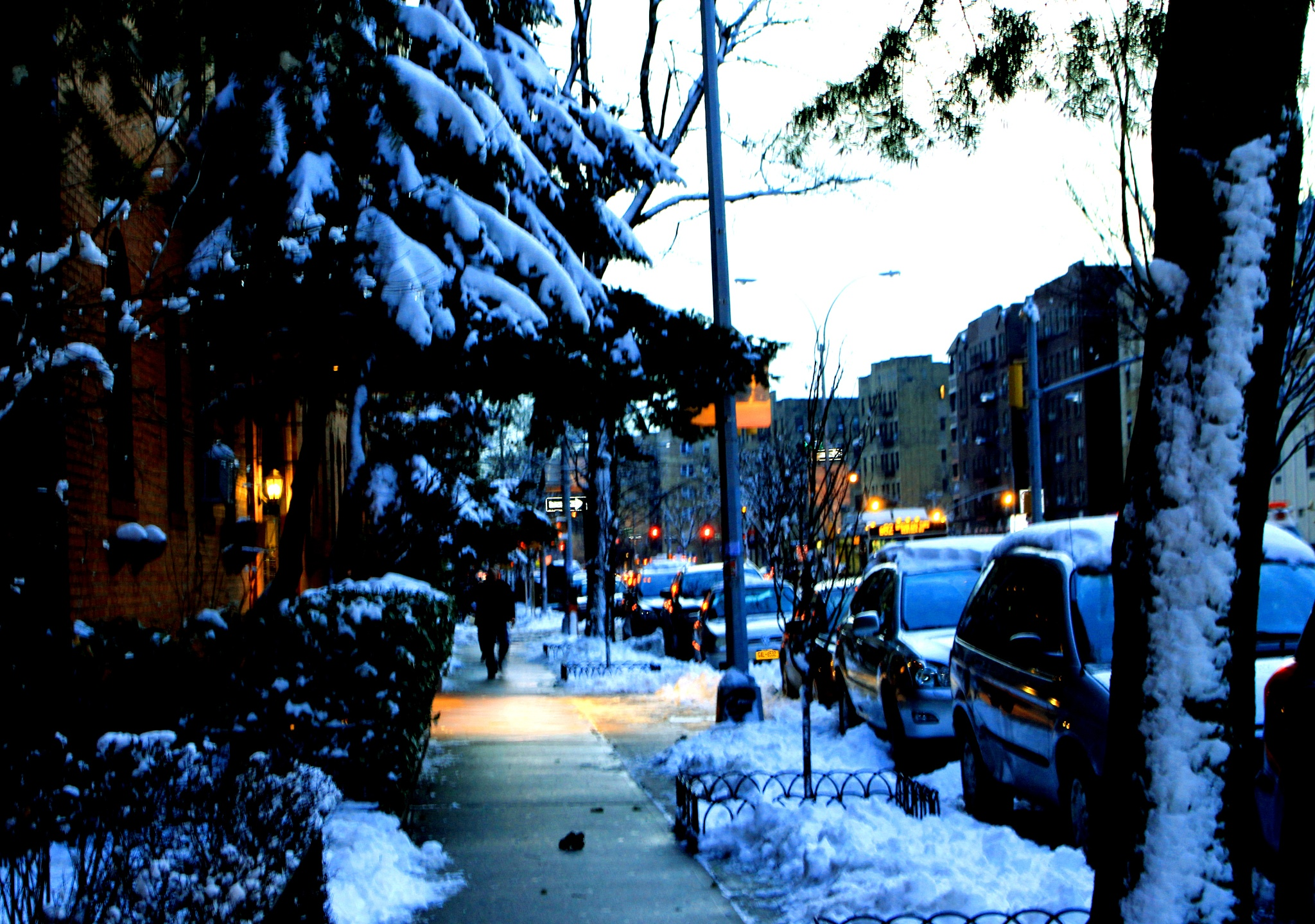 A Winter's Evening on Kings Highway by Barry Wald