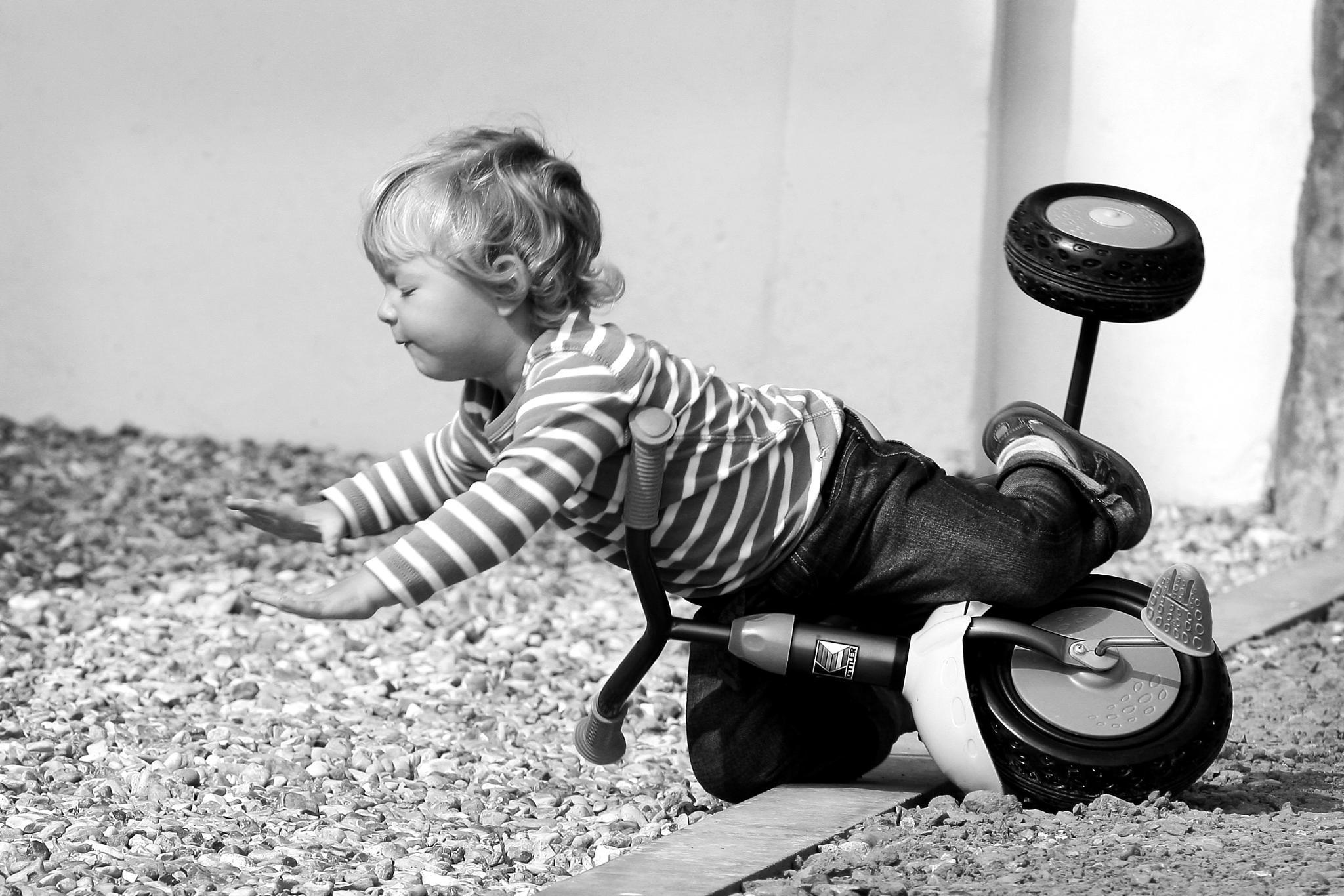 Childs Tricycle Crash by jasonhedgesphotos