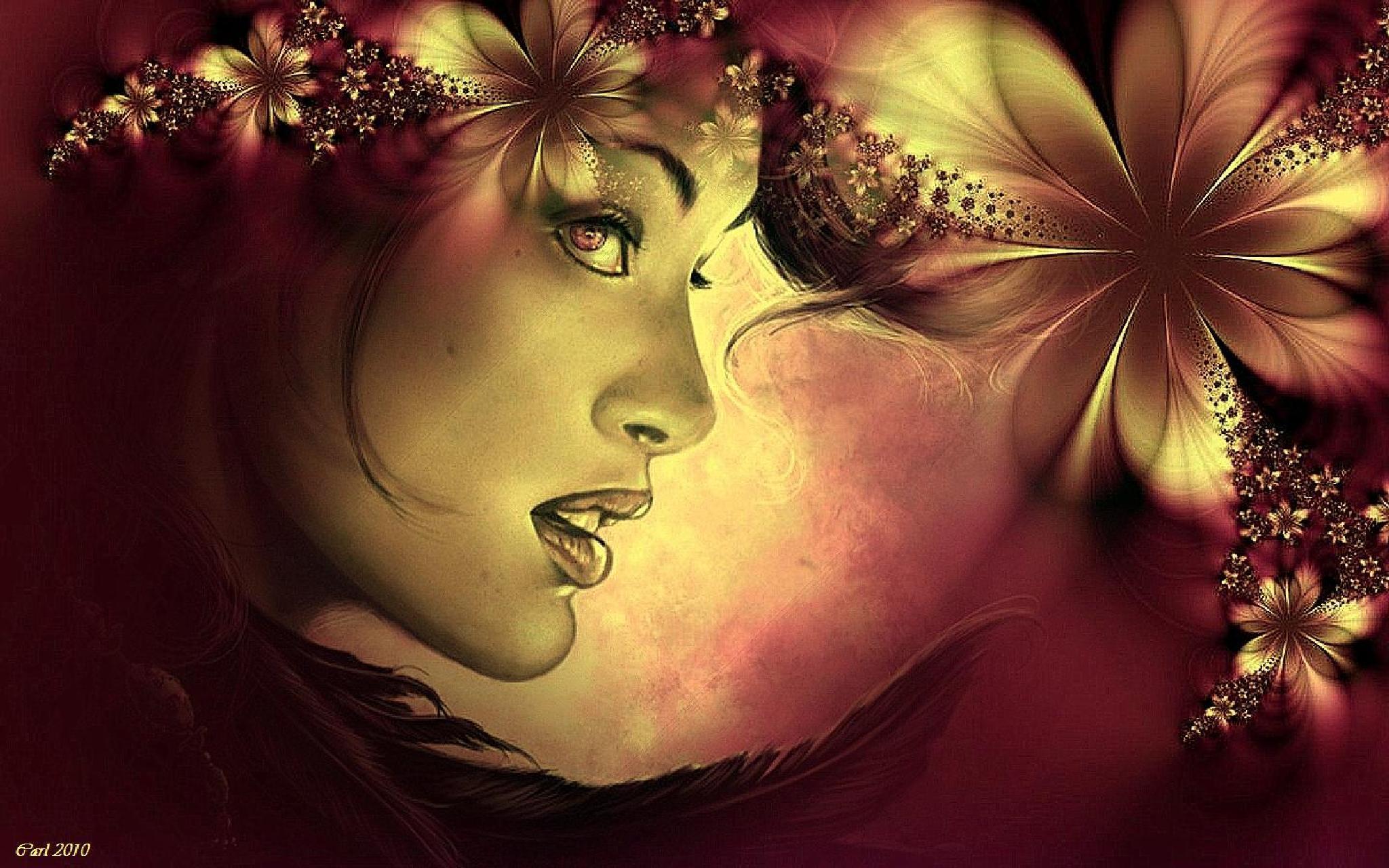 Flower girl by Carl van der Lienden