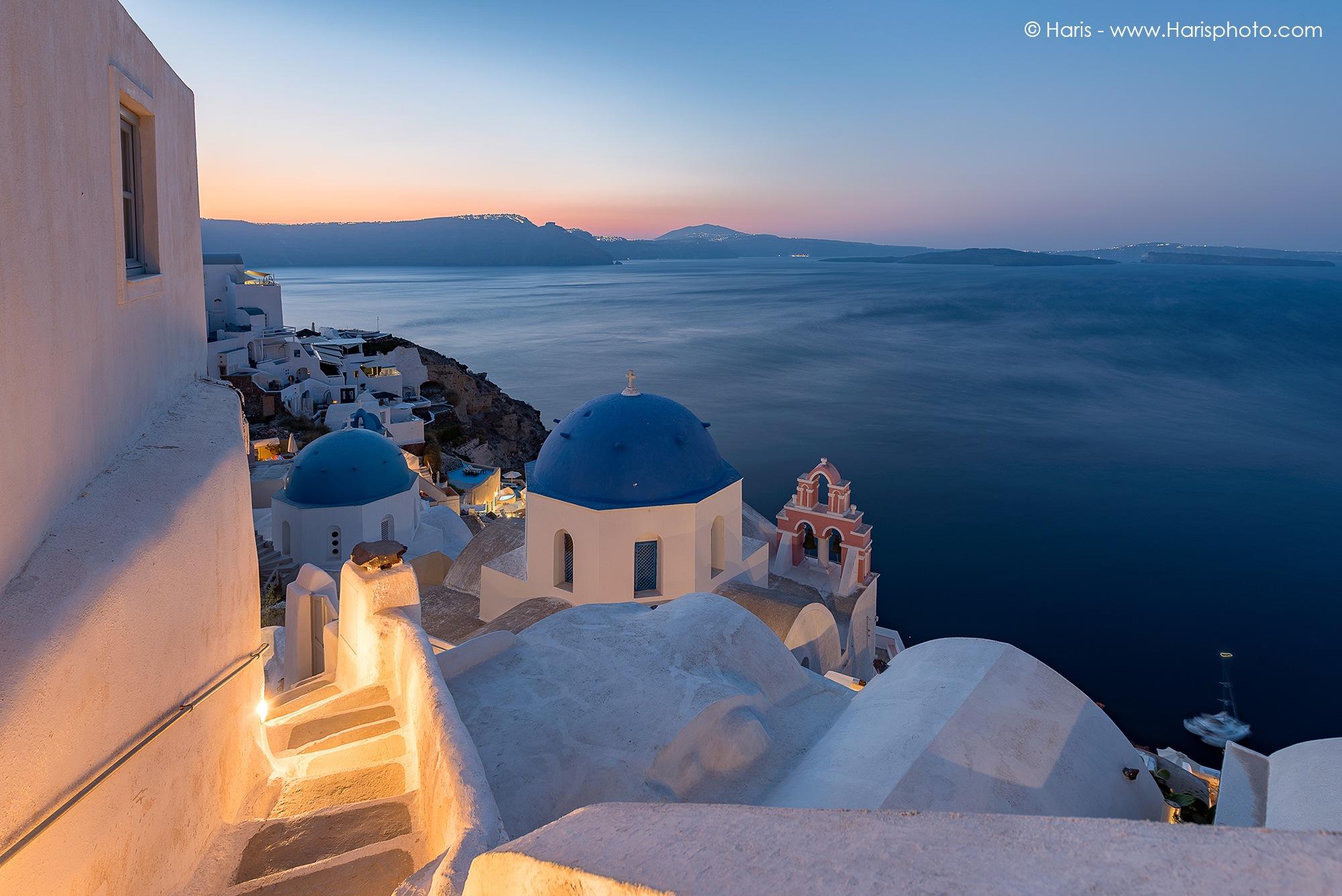 Sunrise at Oia , Santorini by Haris Vithoulkas