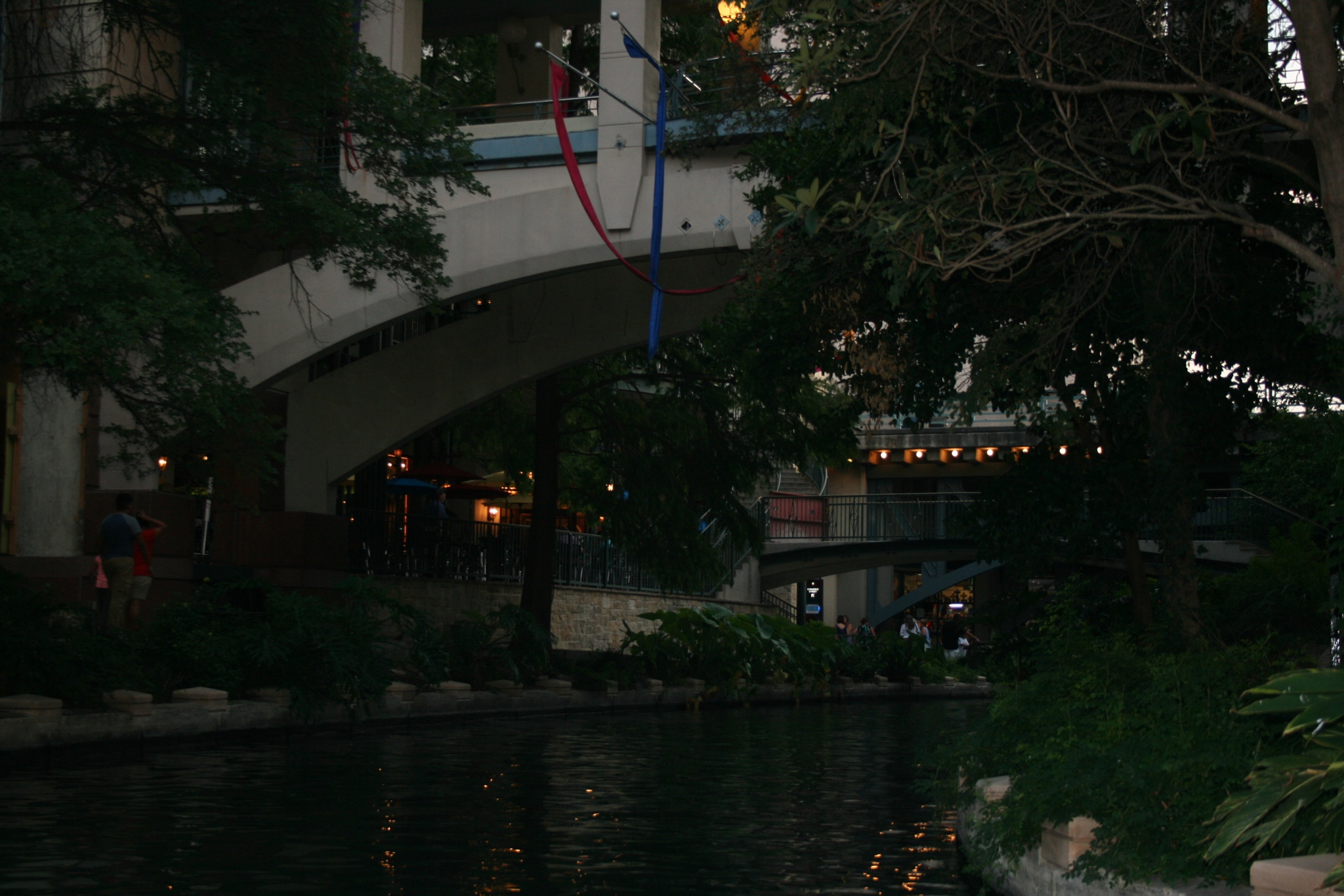 Evening Descends on the Riverwalk by Gayle Goedhart