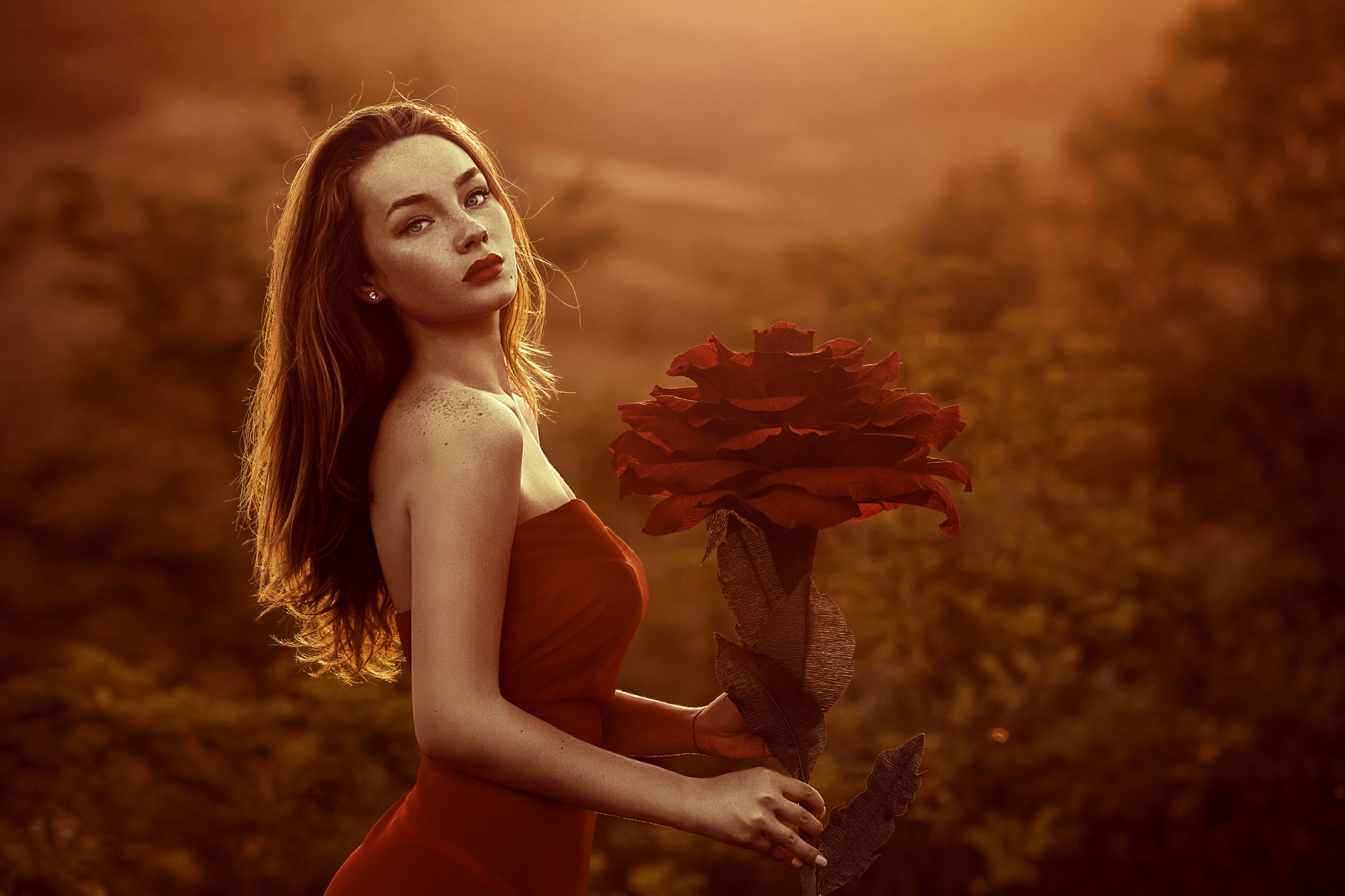 Lady of the flowers by Alexey Vladimir