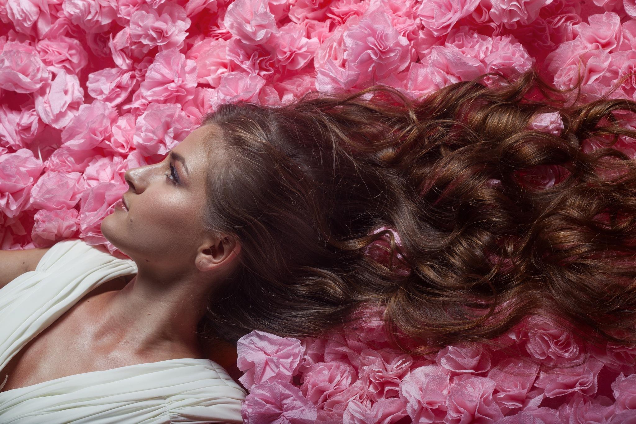 Bride in flowers by Alexey Vladimir