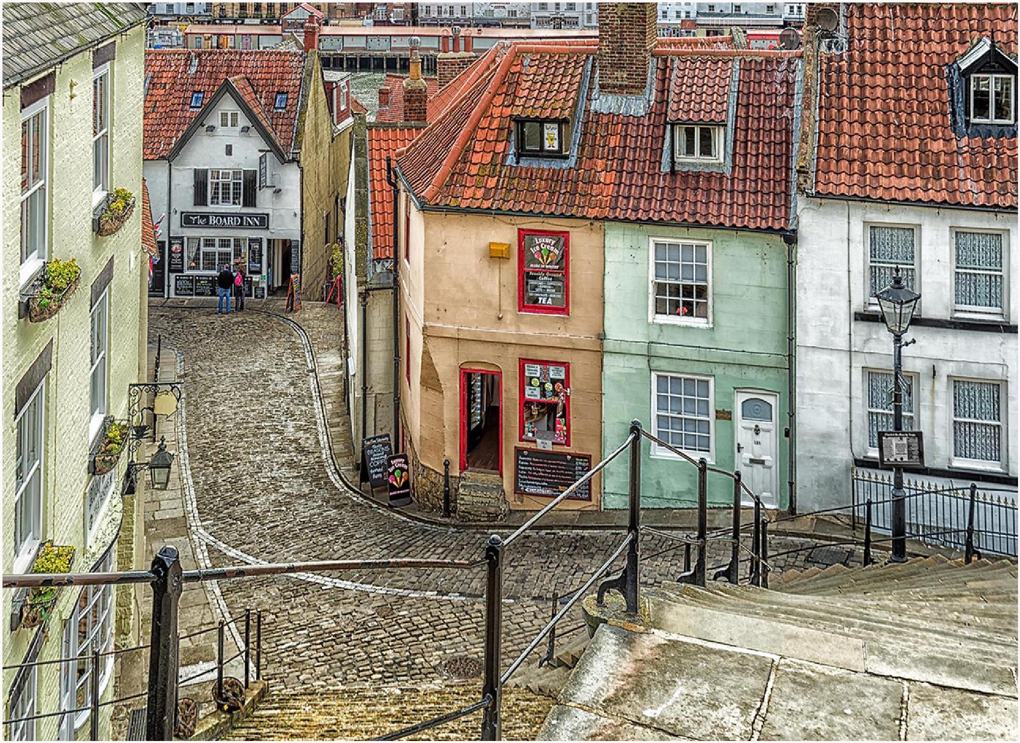Abbey Steps Whitby by DaveJones