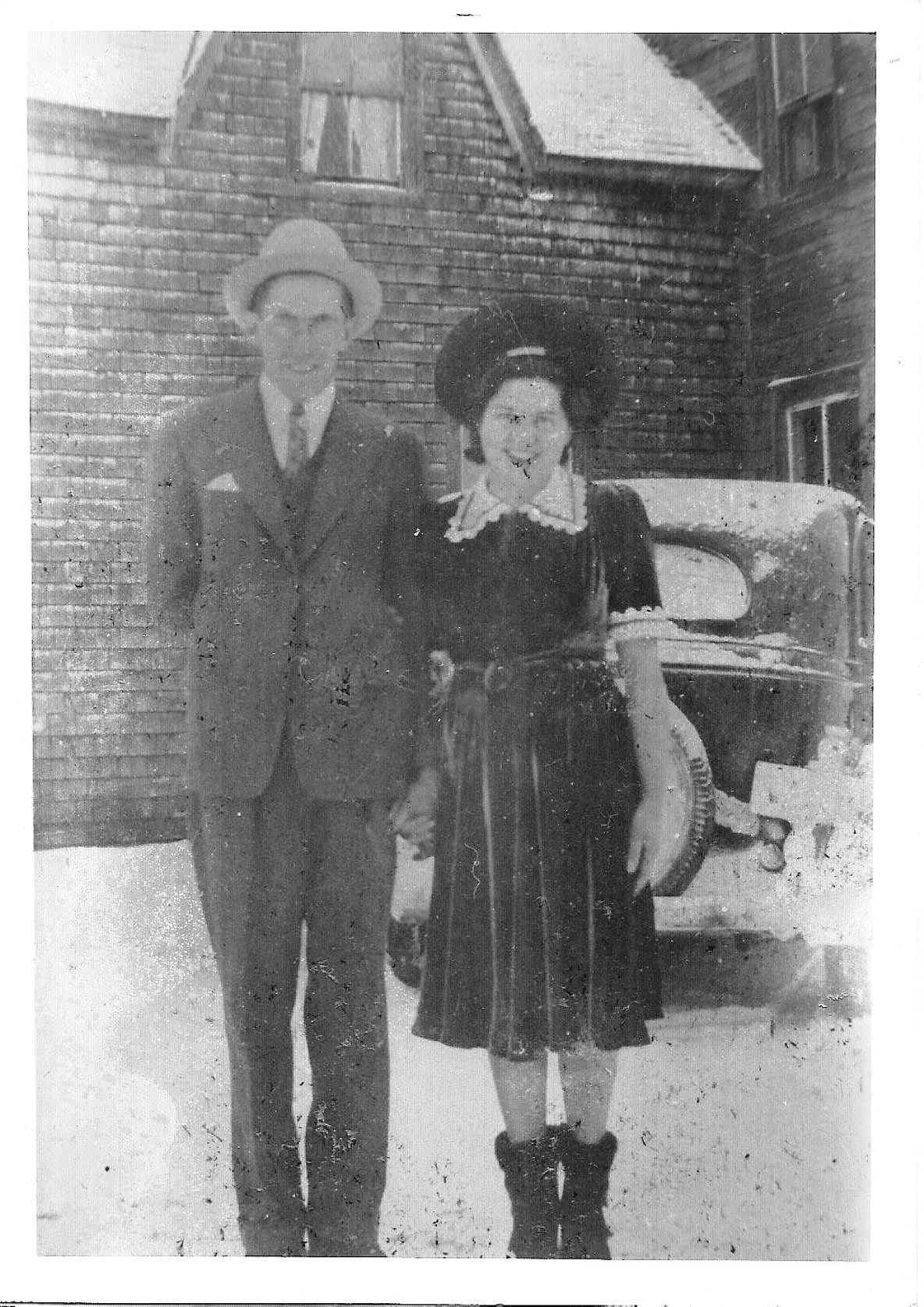 Photo in Vintage #wedding #parents #dress #hat