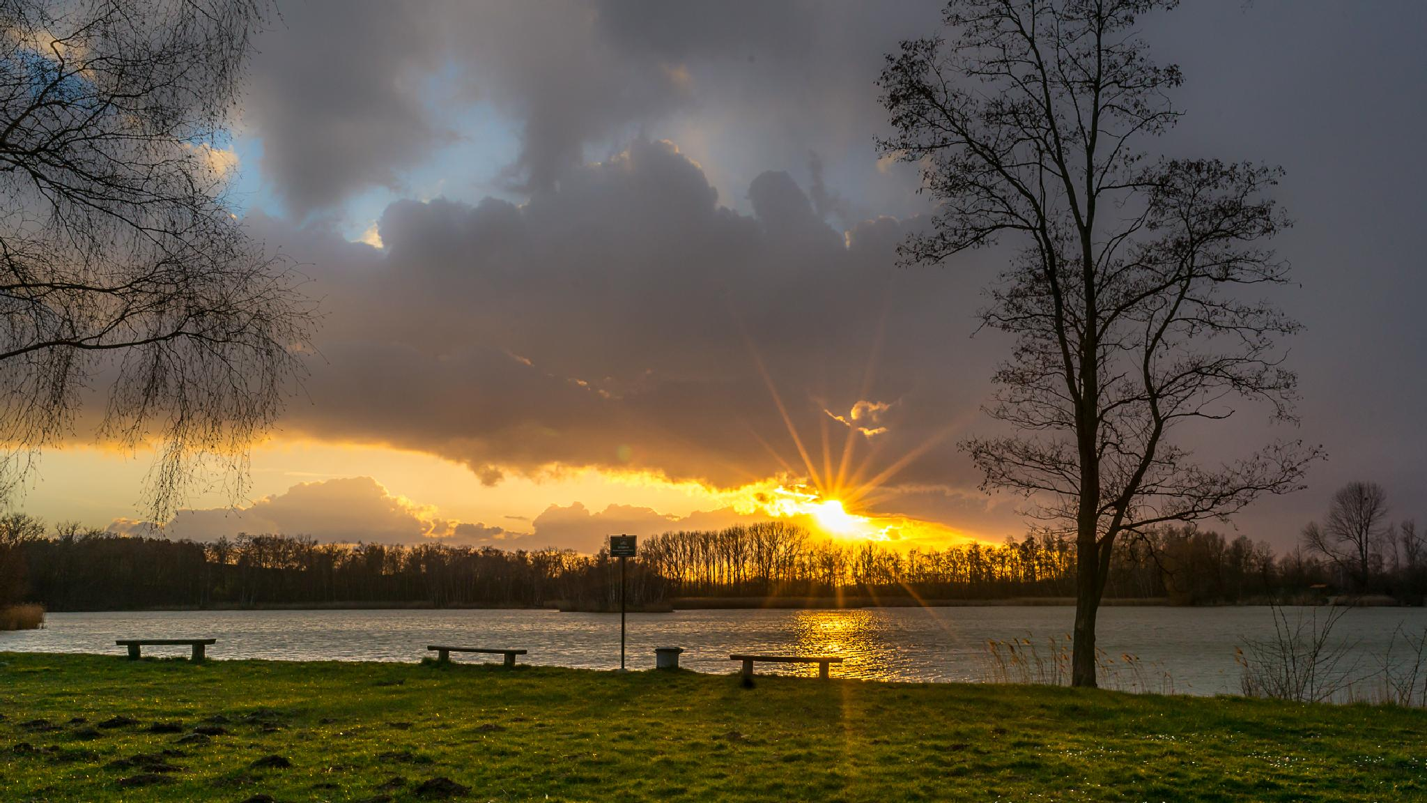 Sunset in April  by Andreas