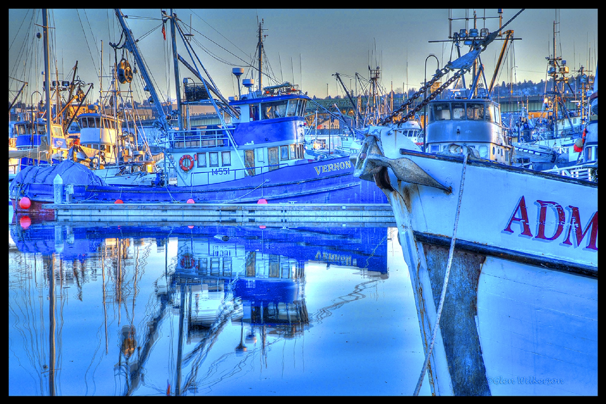 Fishing boats in Seattle, WA by Glen Wilkerson