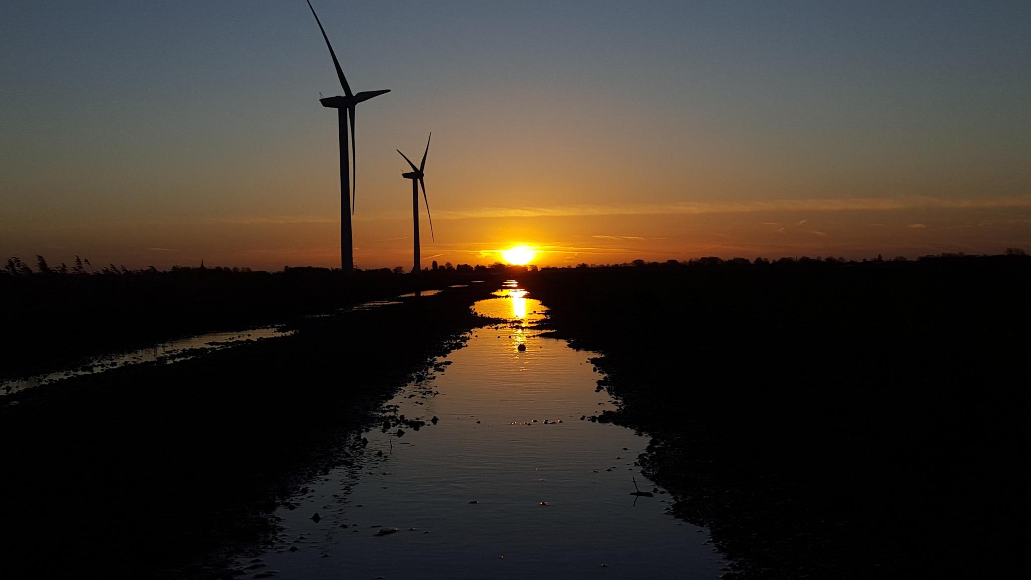 turbine sunrise by robfender