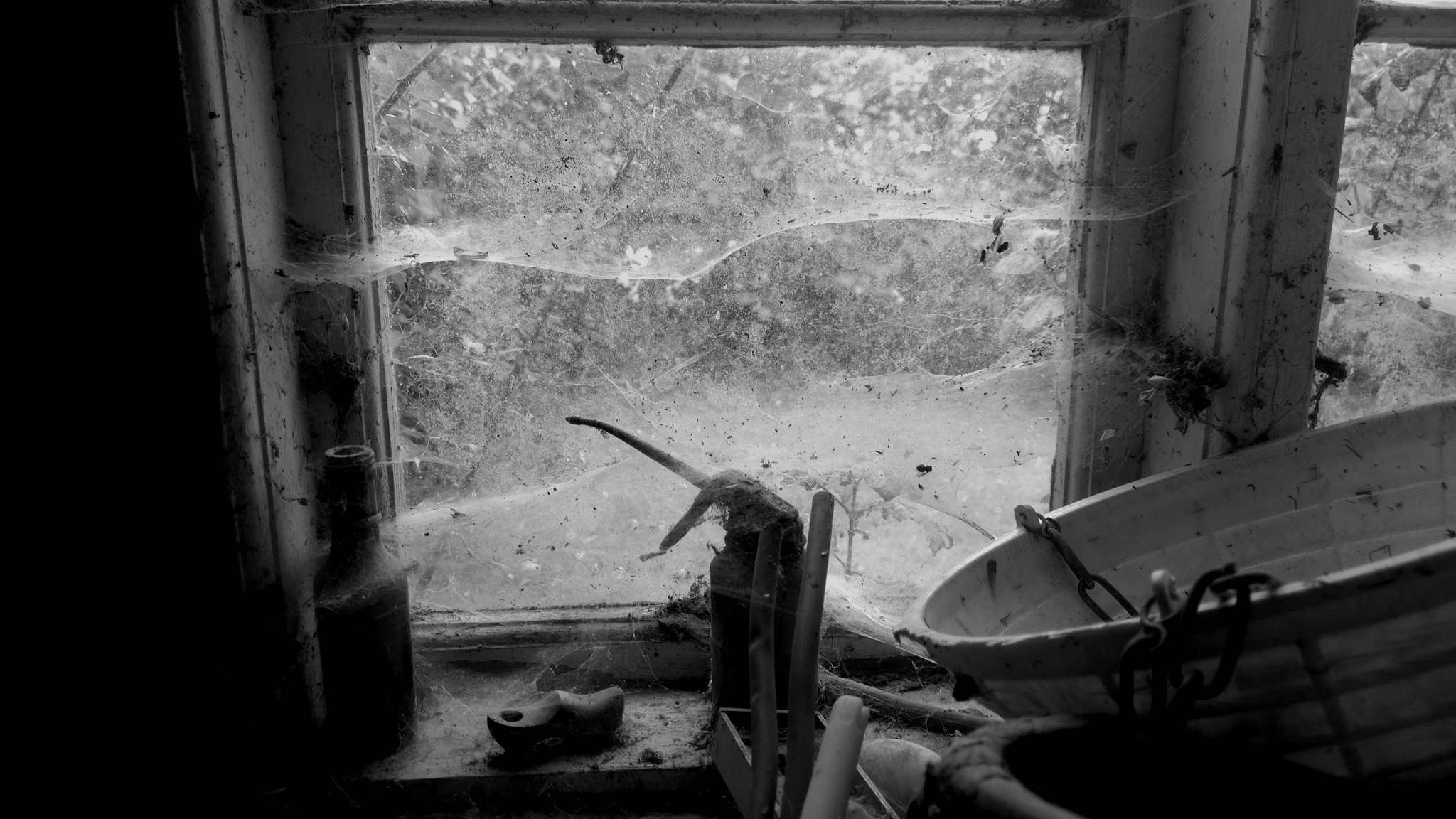 old window bw by Terry Dunn