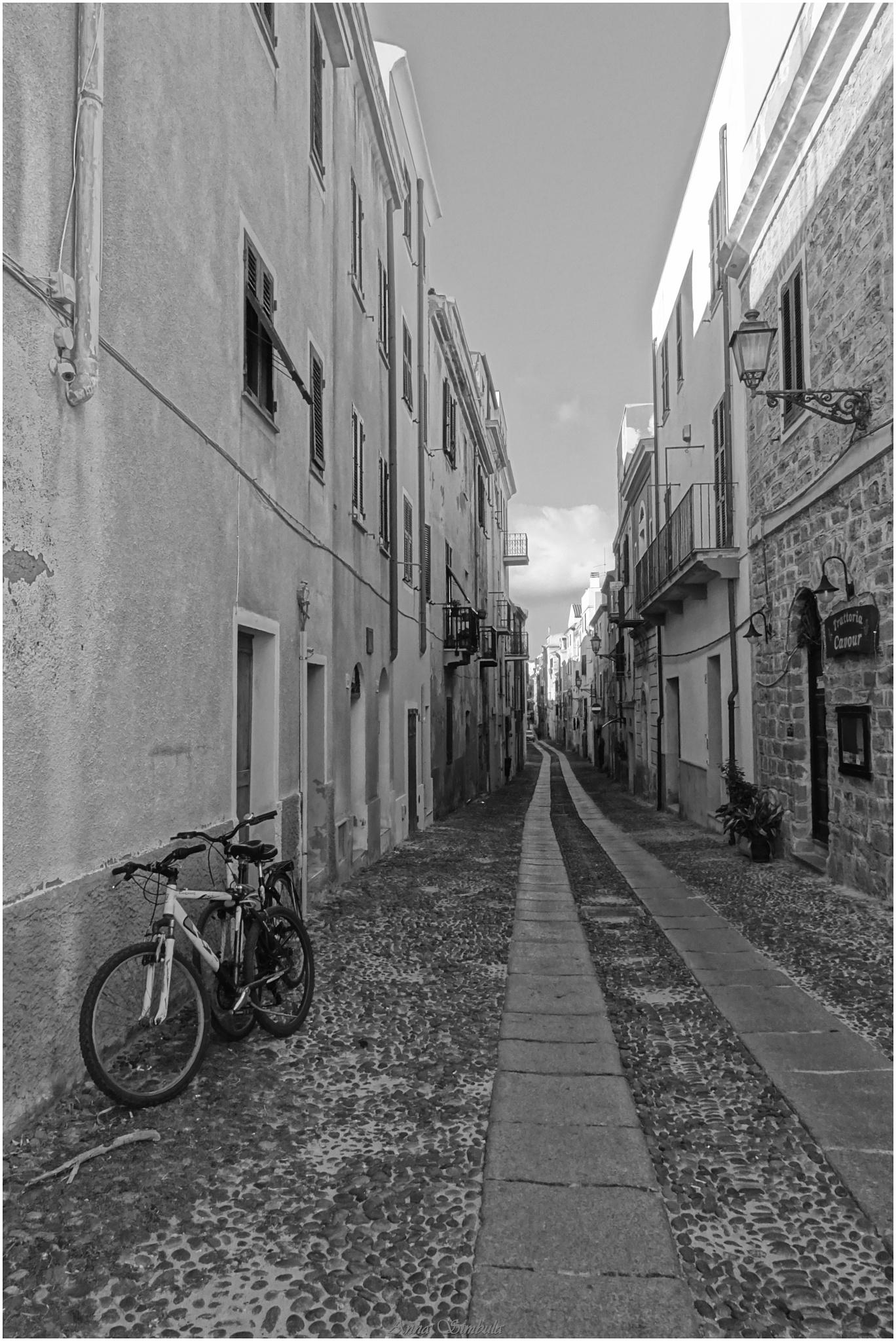 Street   Alghero                (Sardinia) by annasimb