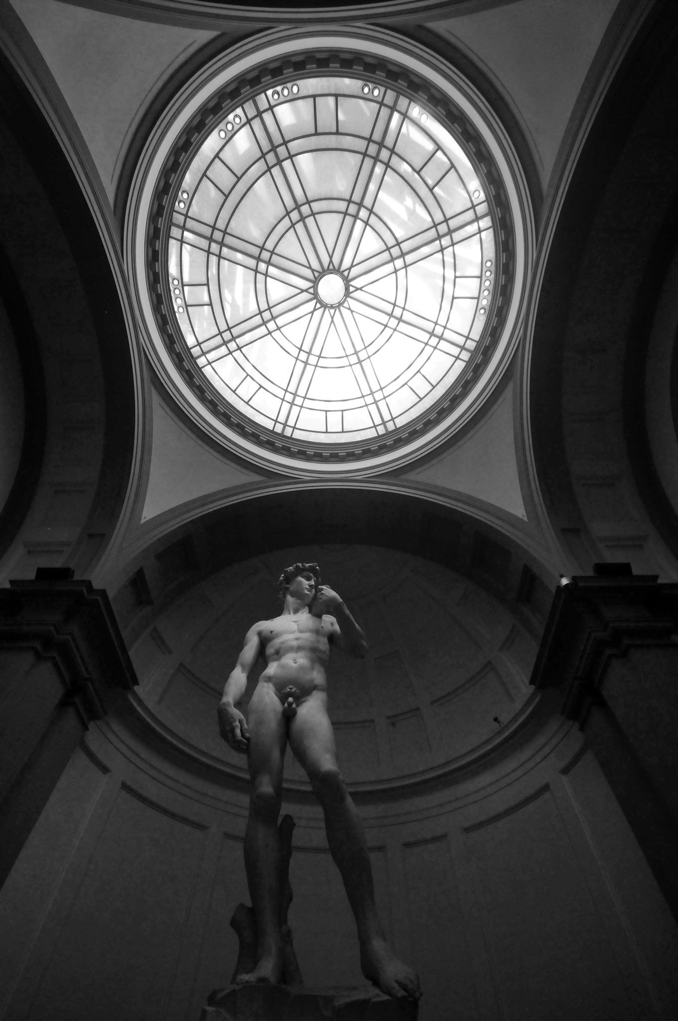 Photo in Fine Art #michelangelo #monochrome #sculpture #lookingup