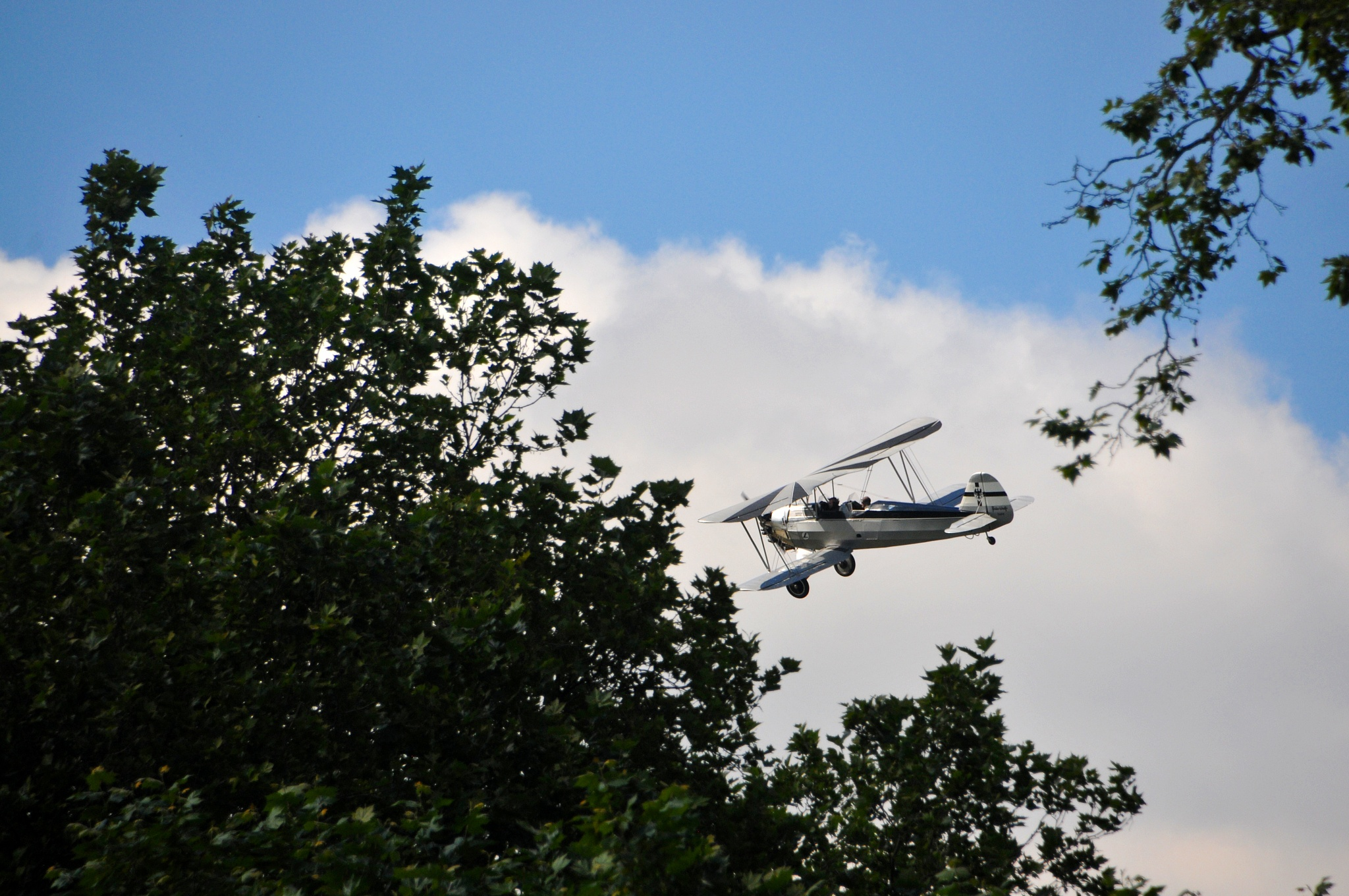 The biplane between the trees by JeanGregoireMarin