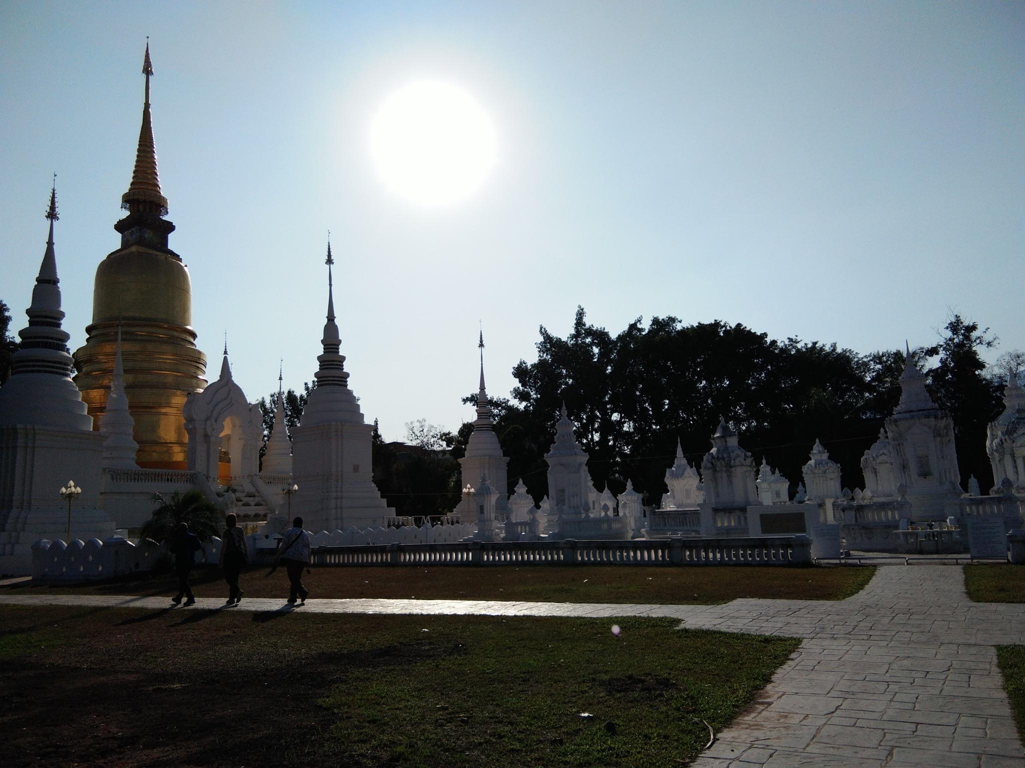 Wat Suan dok @Chiang Mai  by Theerapat Suksanit
