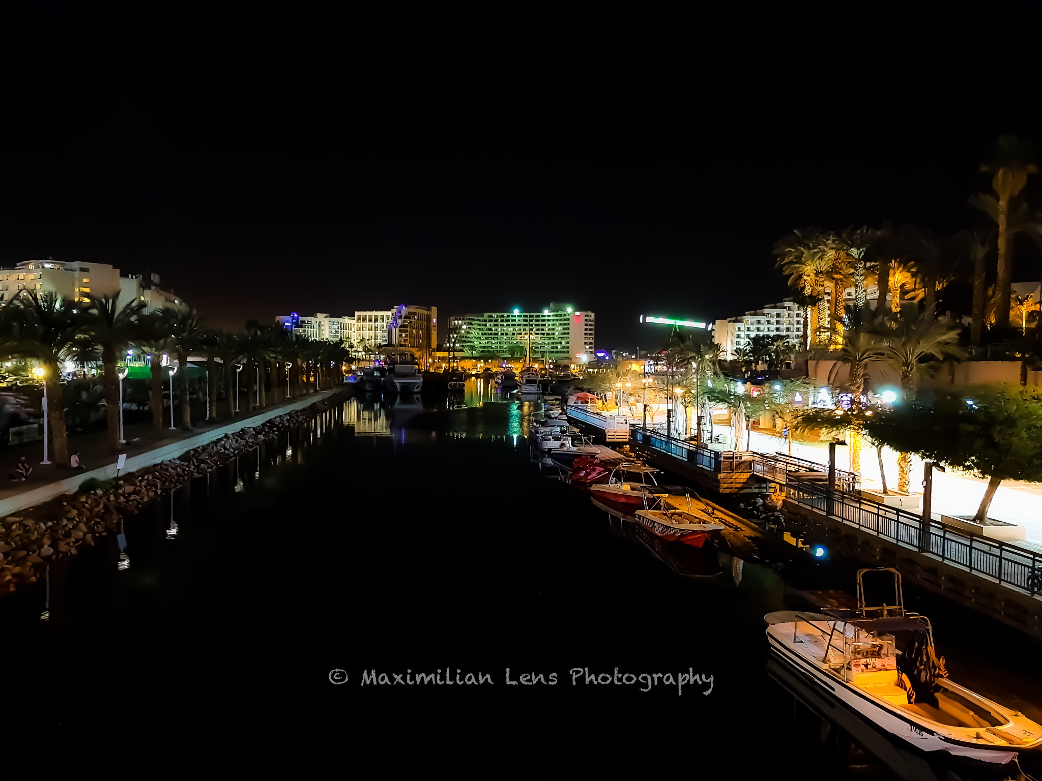 Night marina by Max Graham