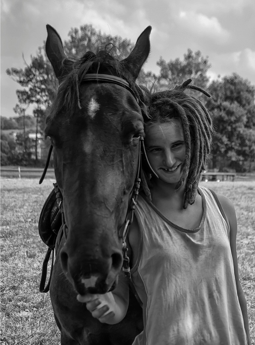 Girl and horse by Matej Turbic