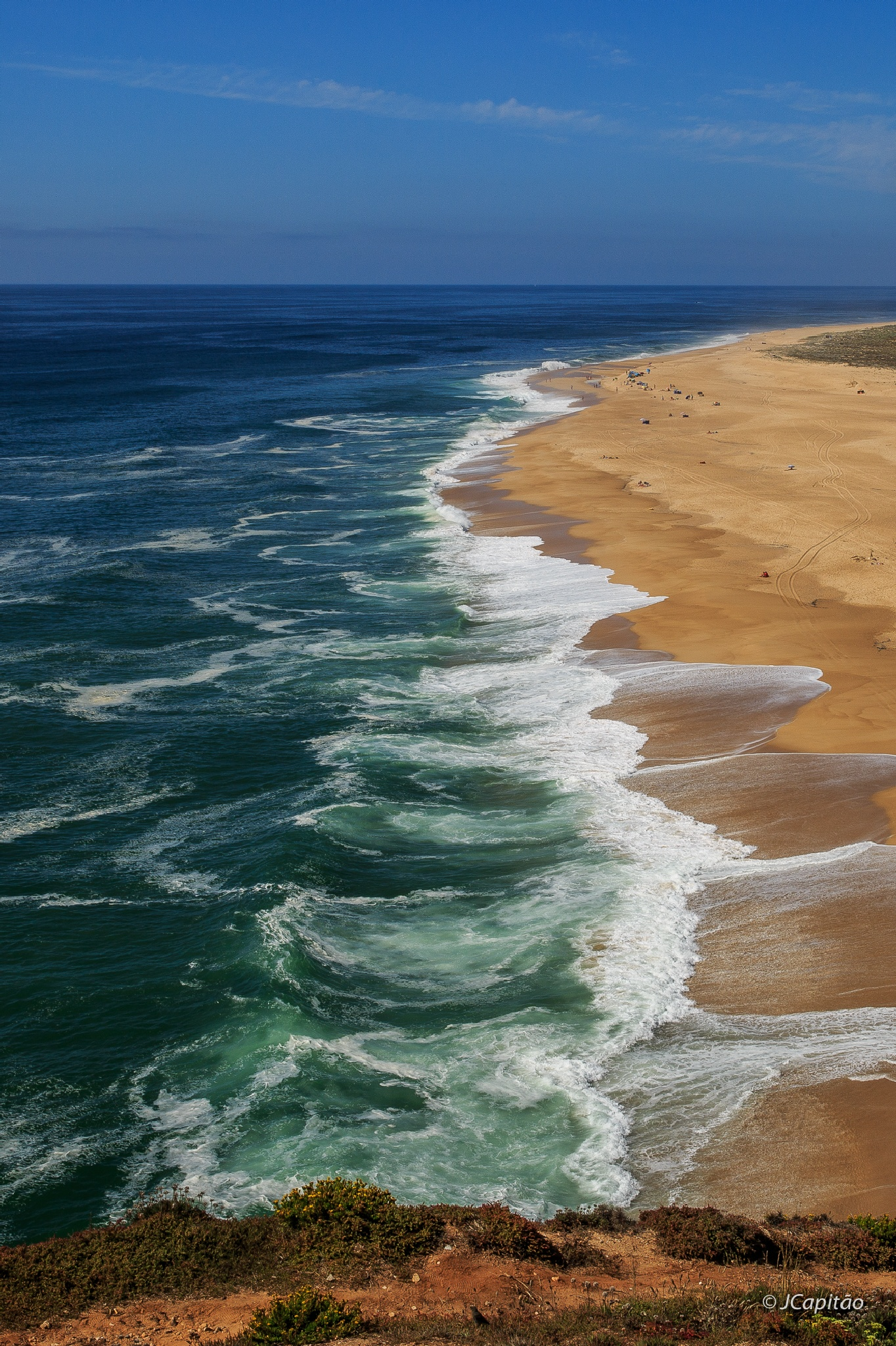 North Beach, Nazaré by Joaquim Capitao