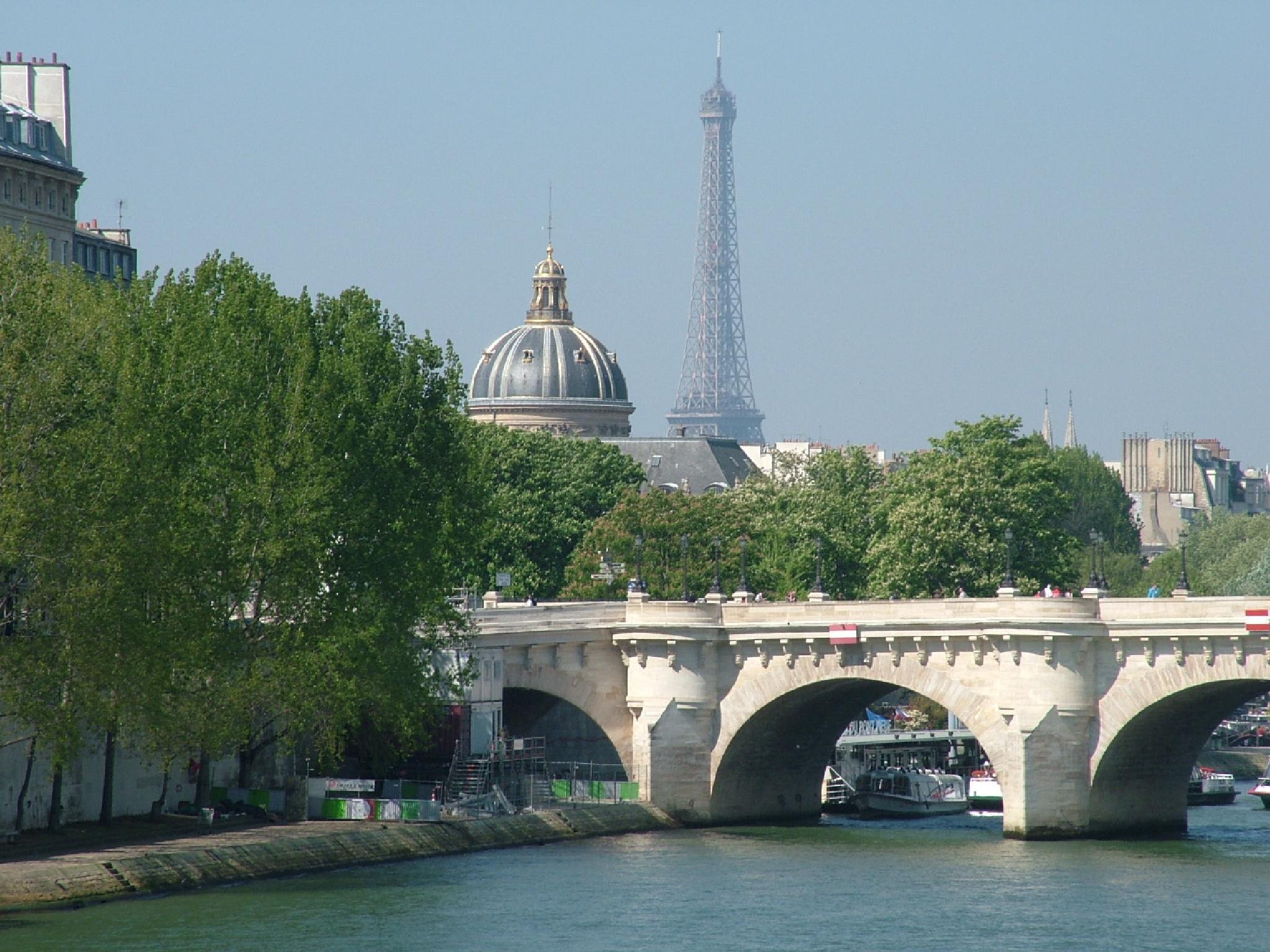 Pont Neuf, Institut de France & Tour Eiffel by Manuel Villanueva