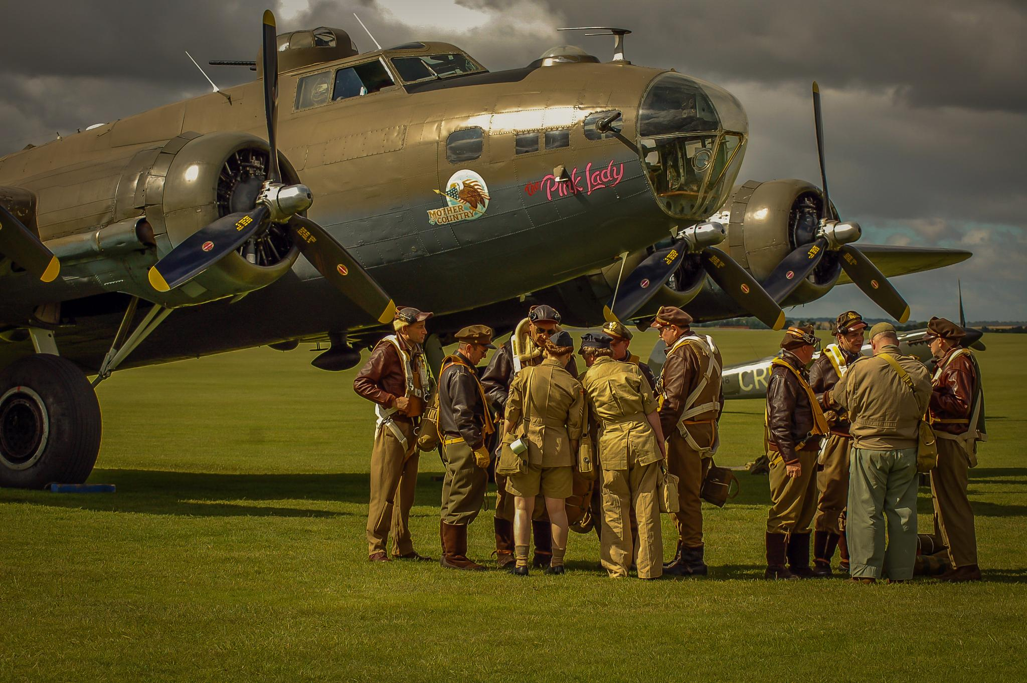 Reenactors with  the Pink Lady by Norman3384