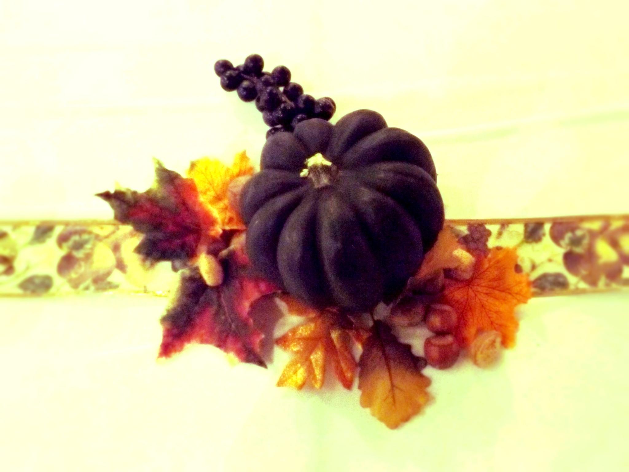 Purple pumpkin by Tammy Warner Hood