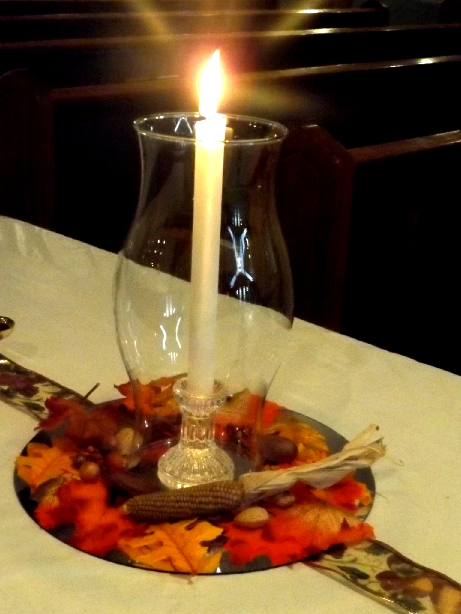 Candle centerpiece. by Tammy Warner Hood